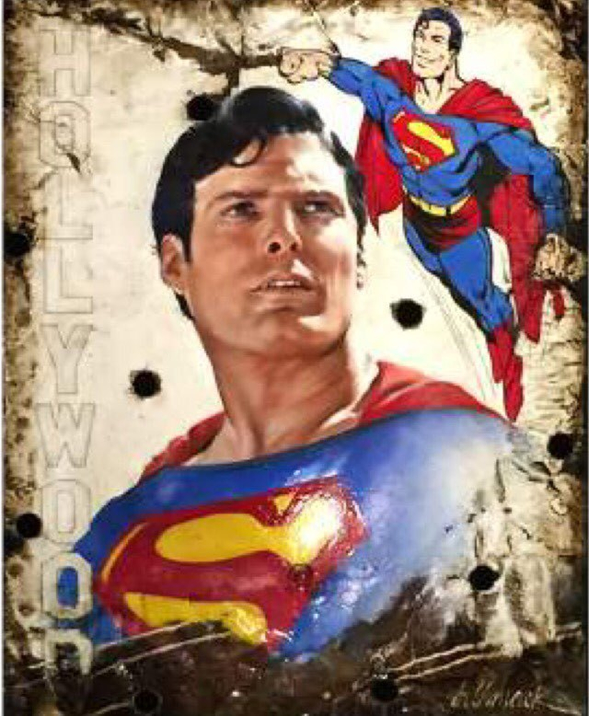 Superman by Bill Mack Hollywood Sign