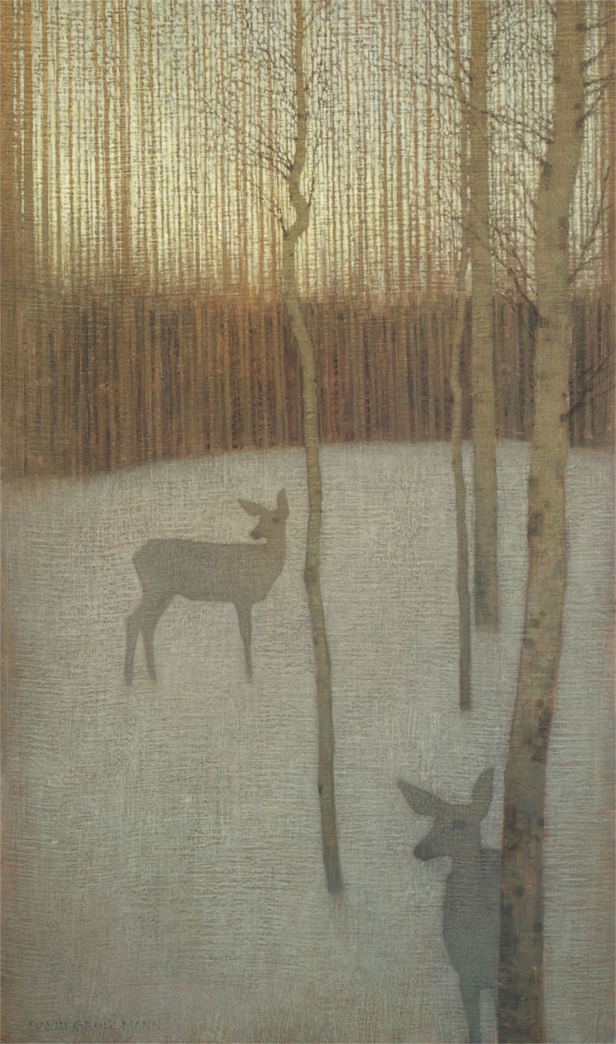 At Dusk in the Winter Forest by David Grossmann