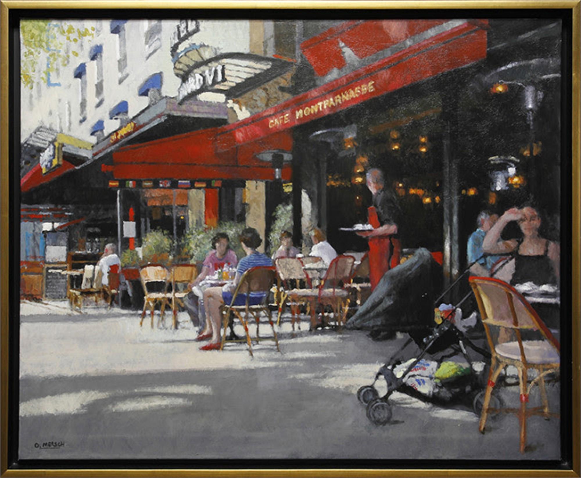 Cafe in Paris by Oscar Mersch