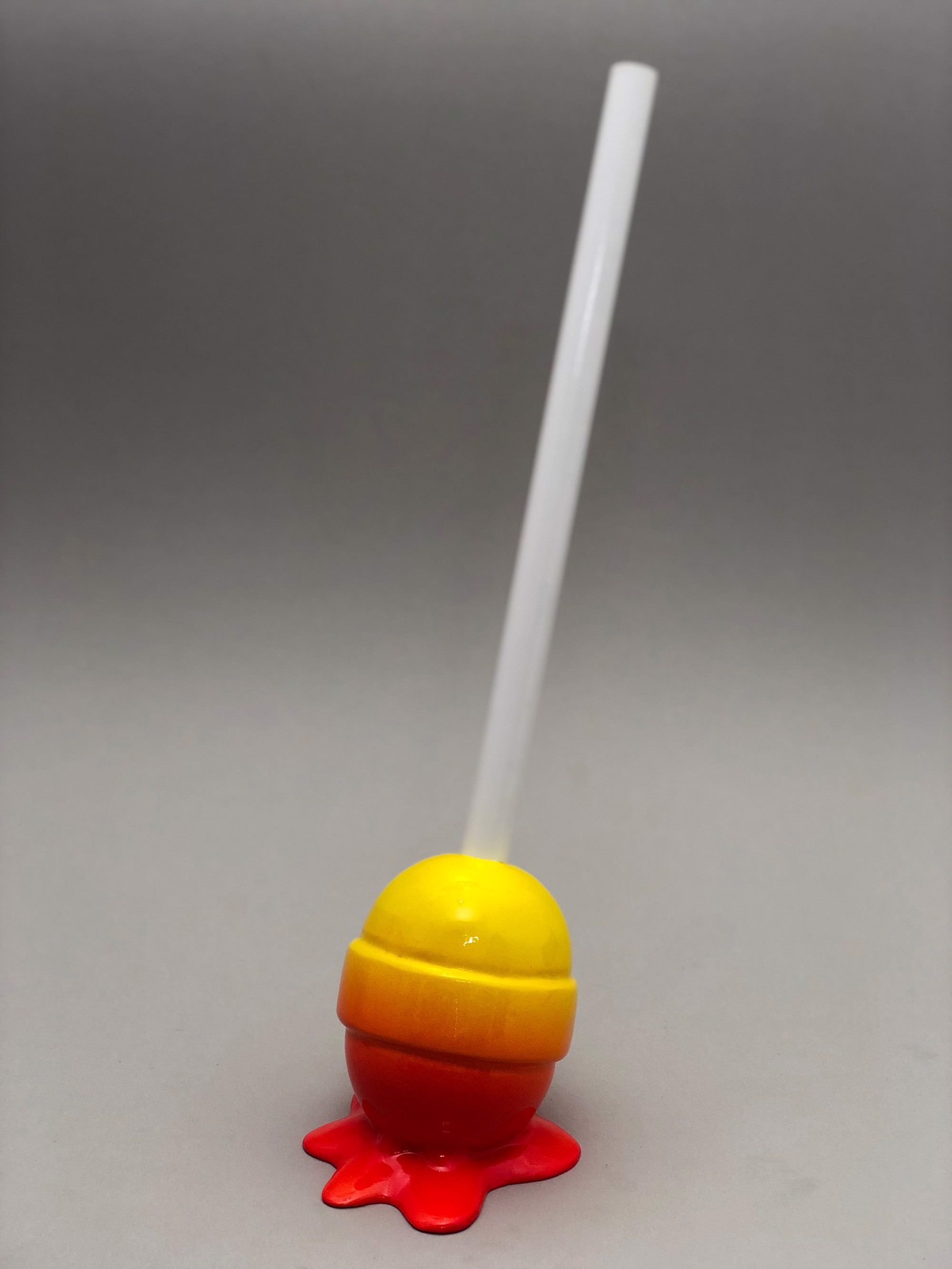The Sweet Life, small, yellow/red ombré Lollipop by Elena Bulatova