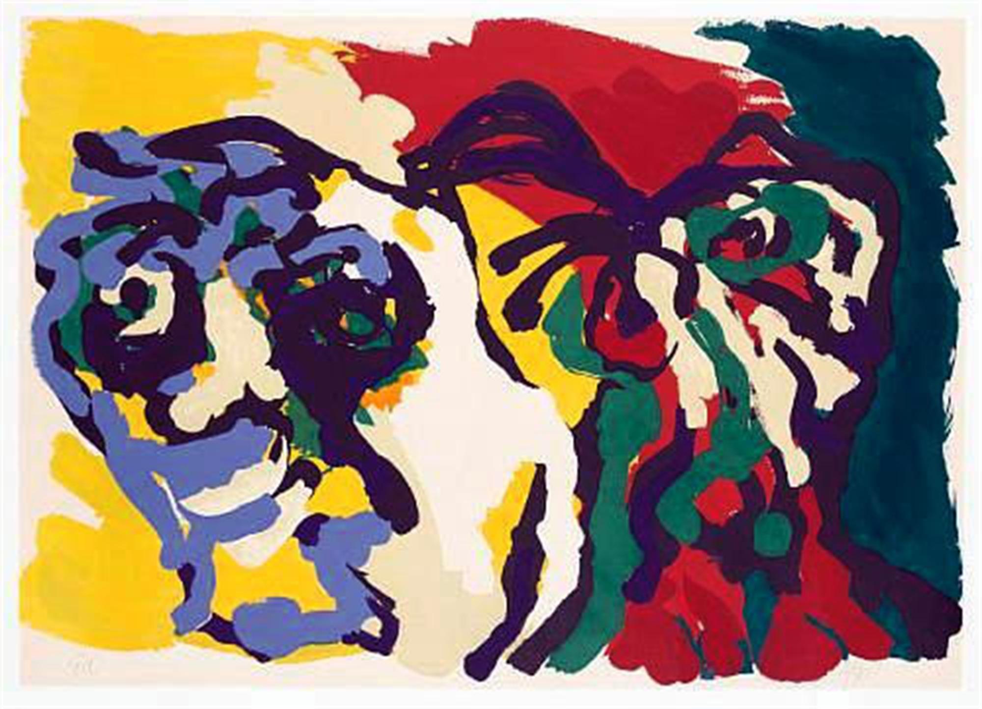 Two Flowering Heads by Karel Appel