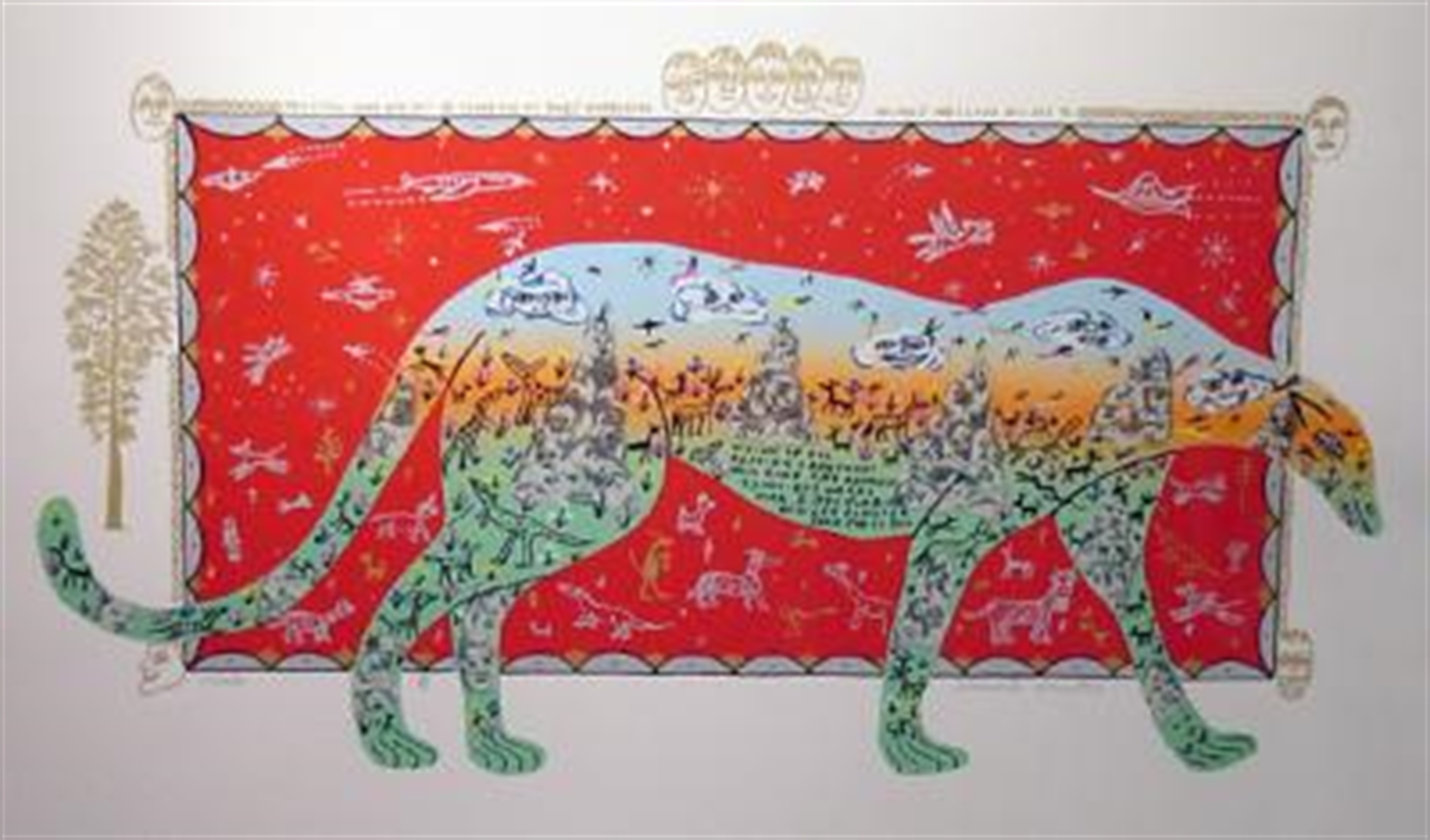 Cheetah by Howard Finster