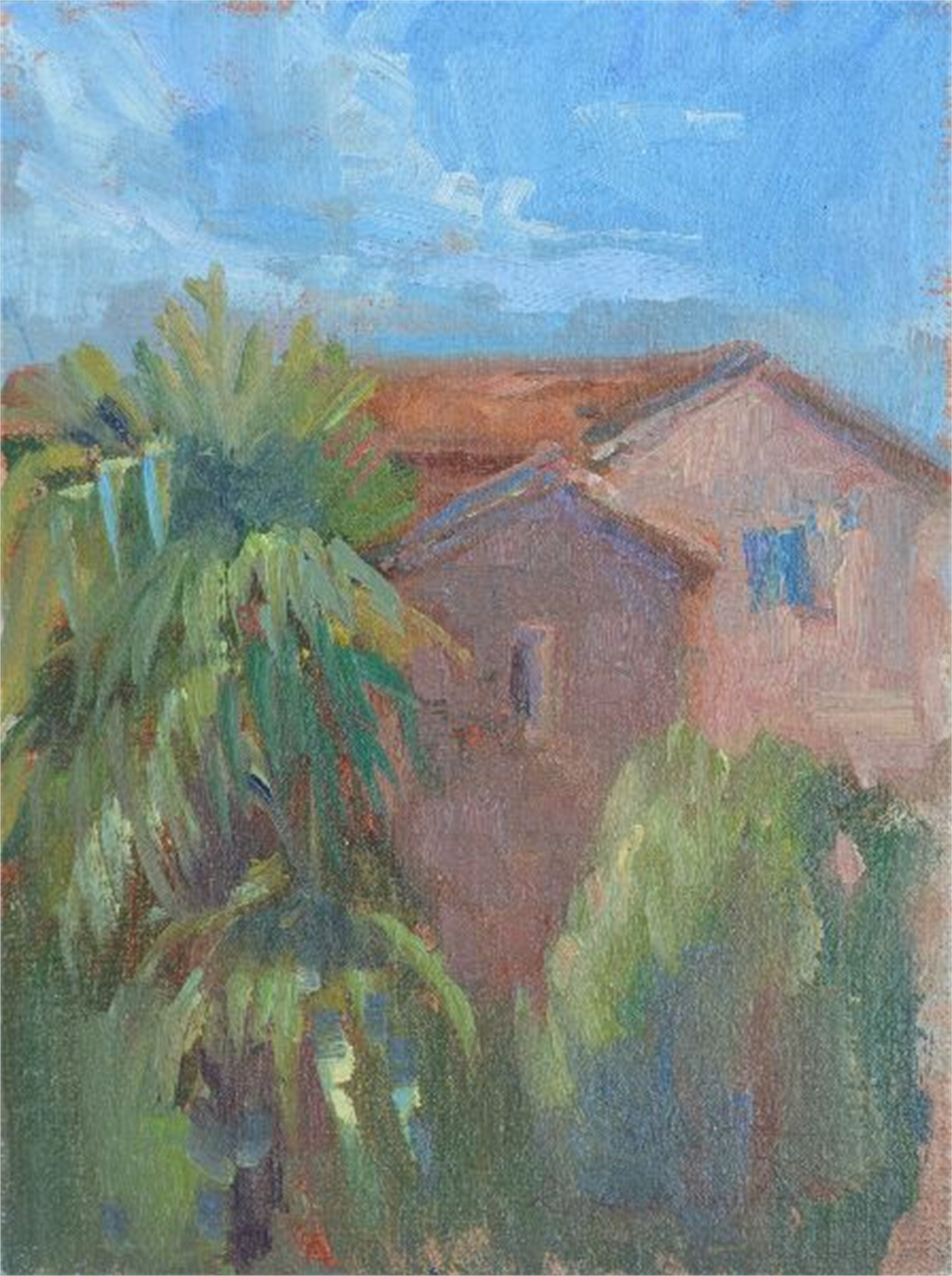 The Church Next Door in Tuscany by Karen Hewitt Hagan