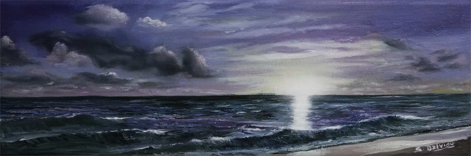 Purple Ocean by Silvia Belviso