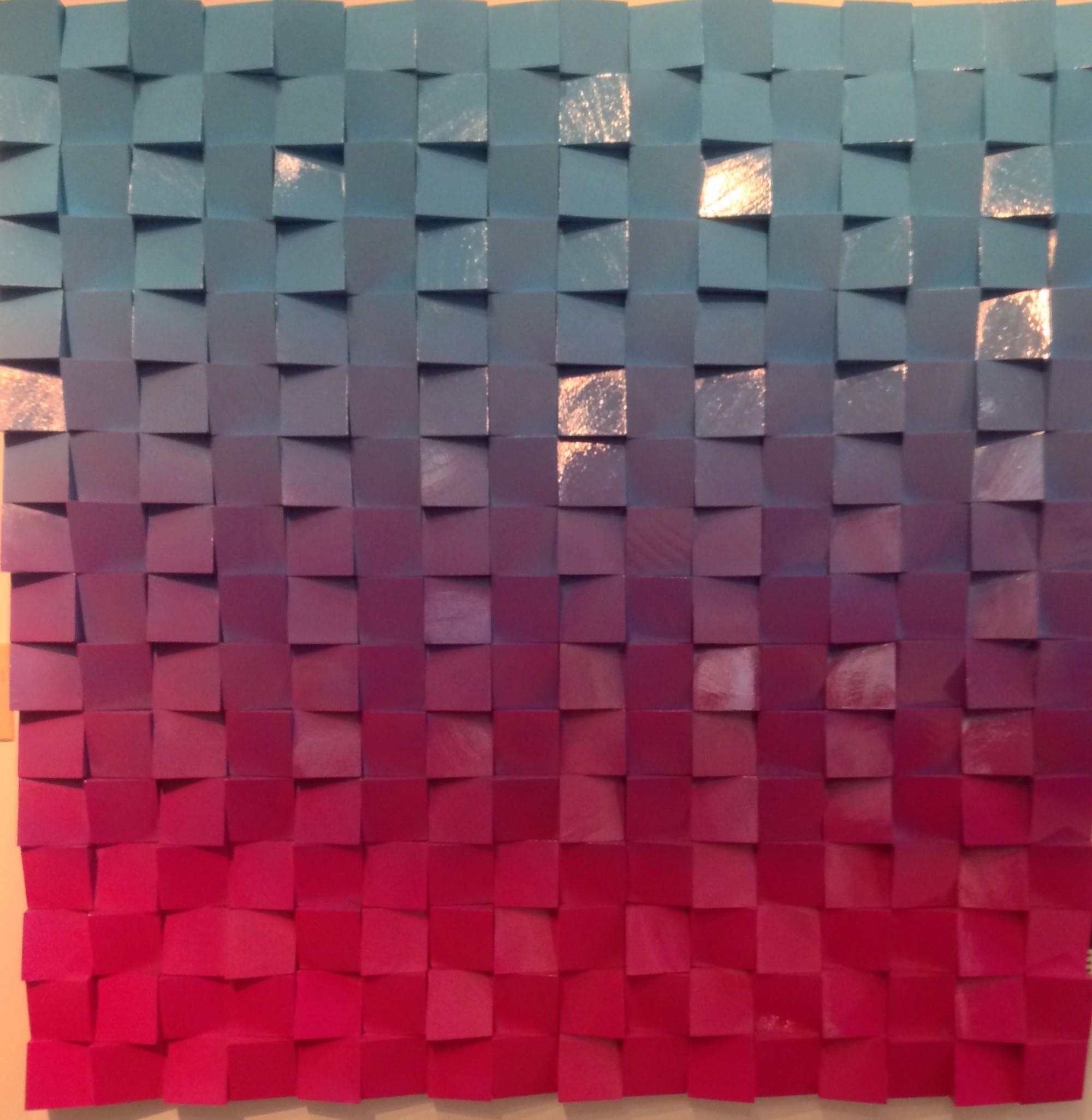 """""""Neon Waves"""" Sky Blue /Fuschia Ombre by Efi Mashiah"""