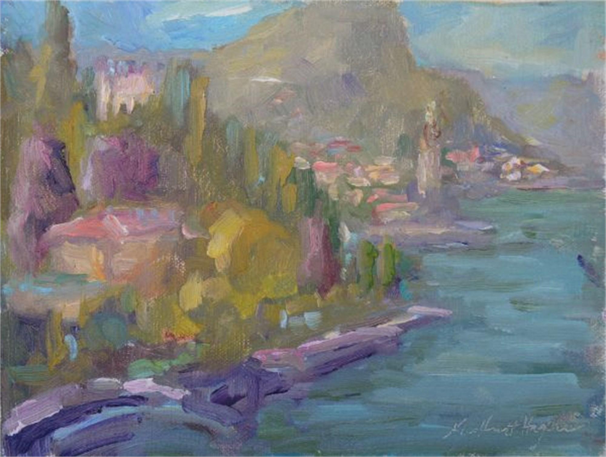 Bellagio on Lake Como, Italy by Karen Hewitt Hagan