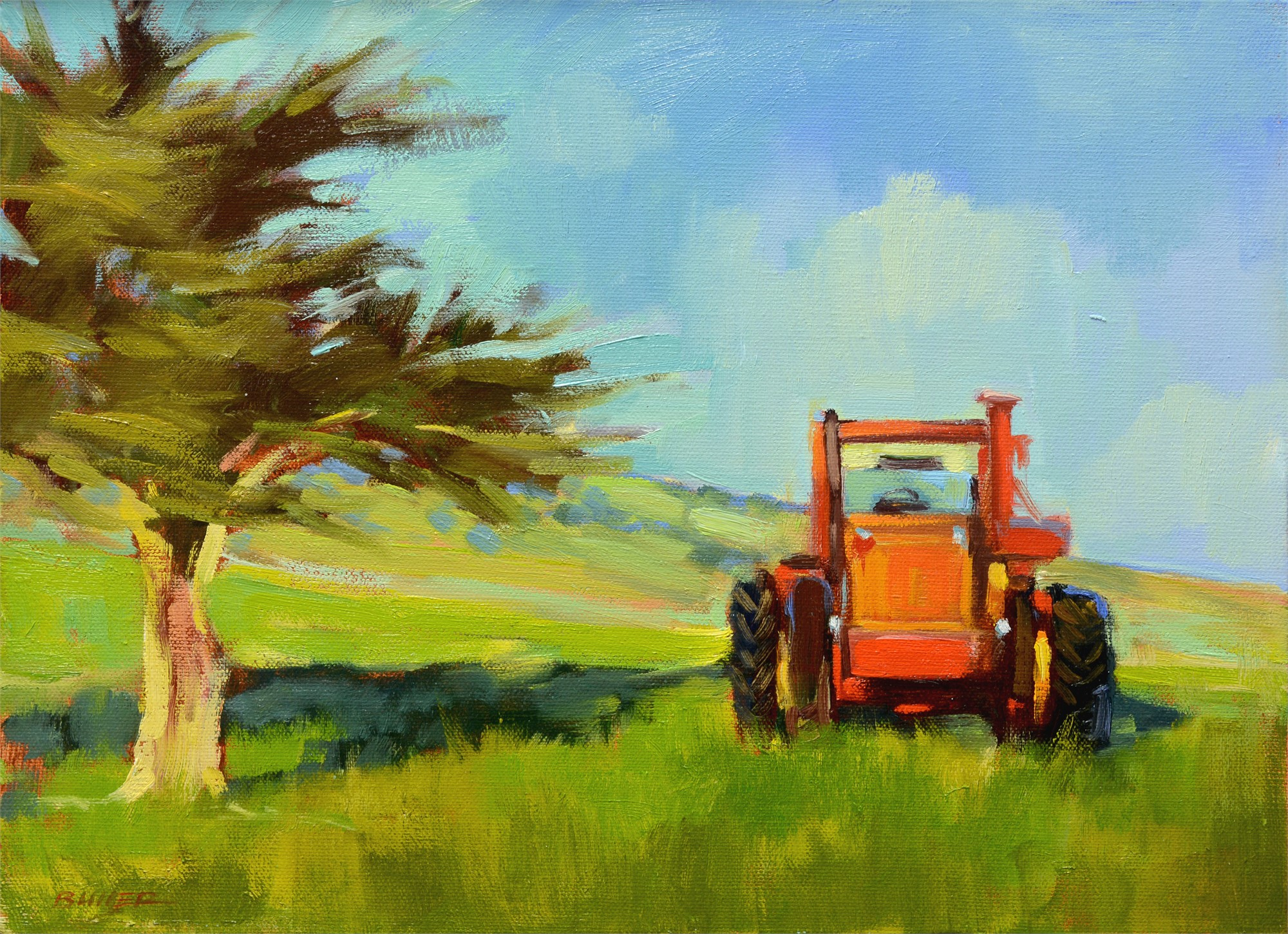 Working Tractor by Samantha Buller