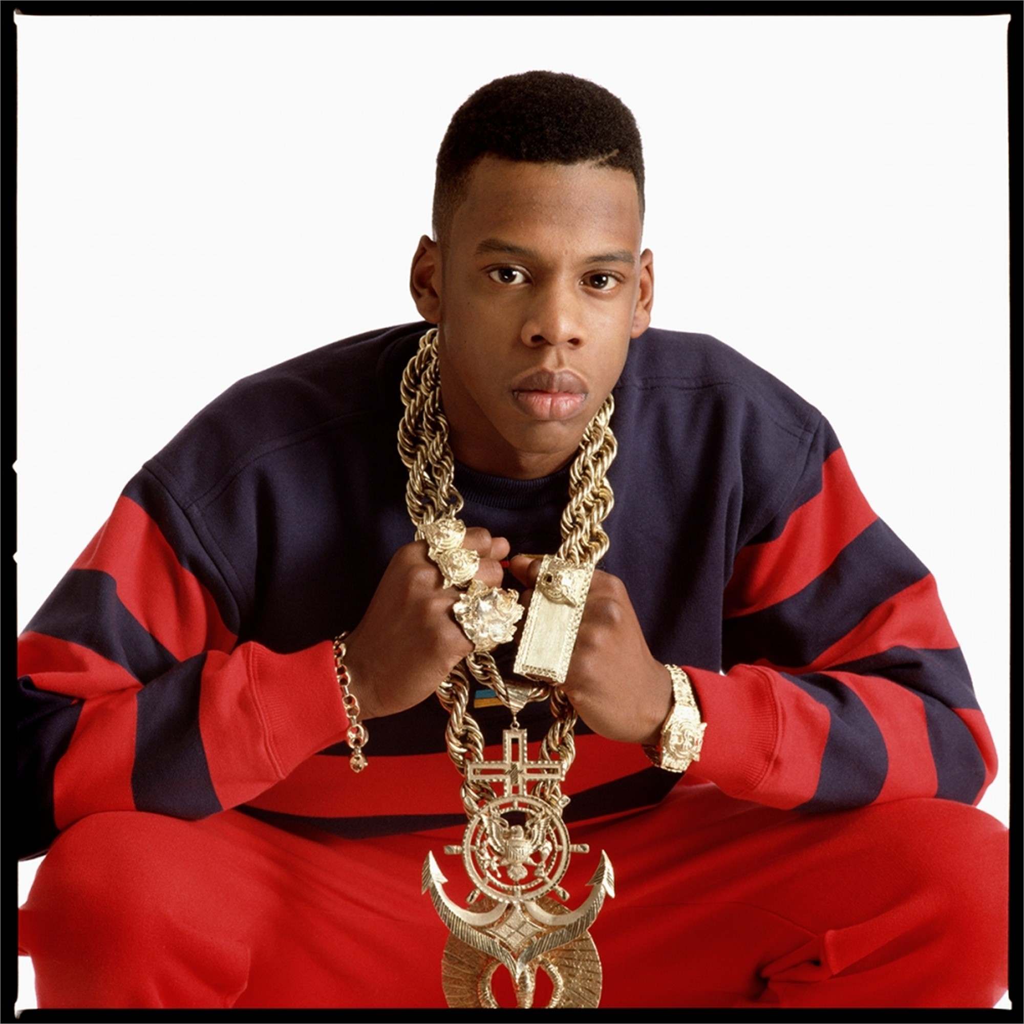 88217 Jay Z Red Sweater 1988 Color by Timothy White
