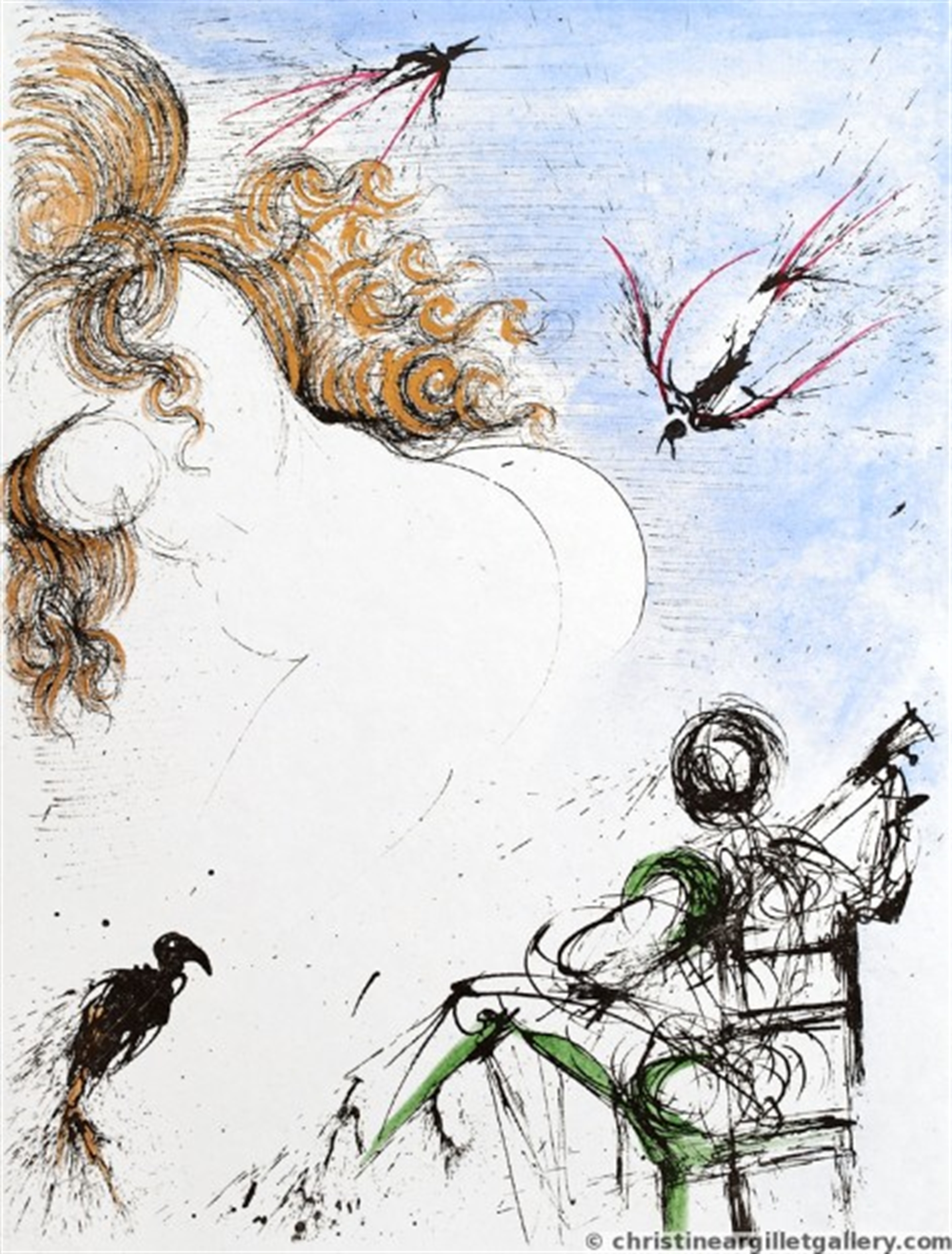 "Apollinaire ""Woman with Parrot"" by Salvador Dali"