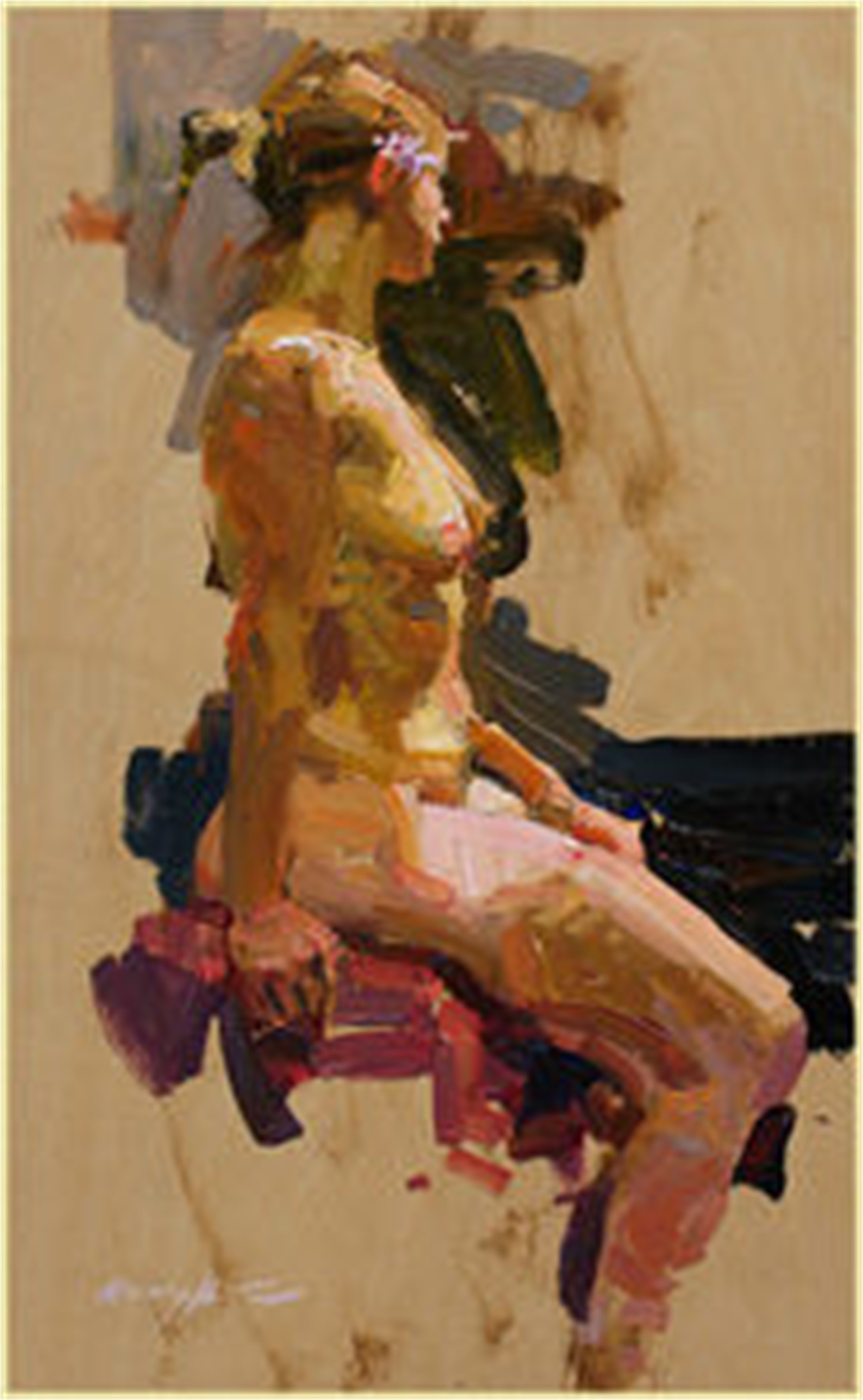 Seated Figure by Quang Ho