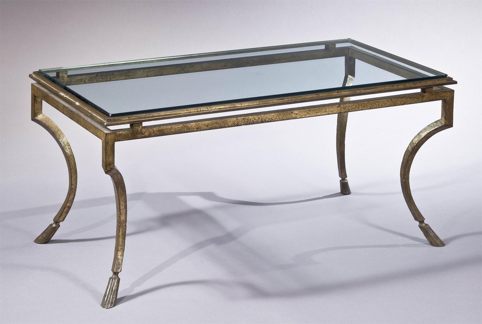GILT METAL LOW TABLE