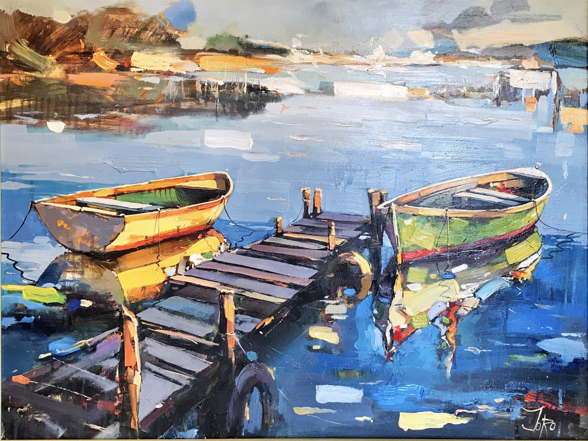 Fishing Boats on the Quay by Georgi Kolarov