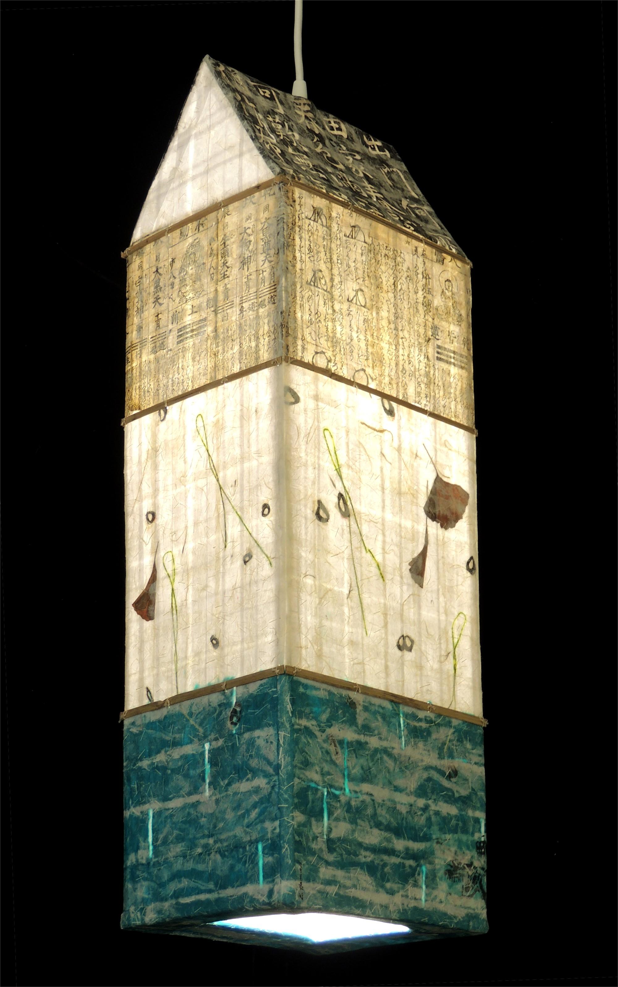 Gingko Water Spirit House Lantern by Elaine Hanowell