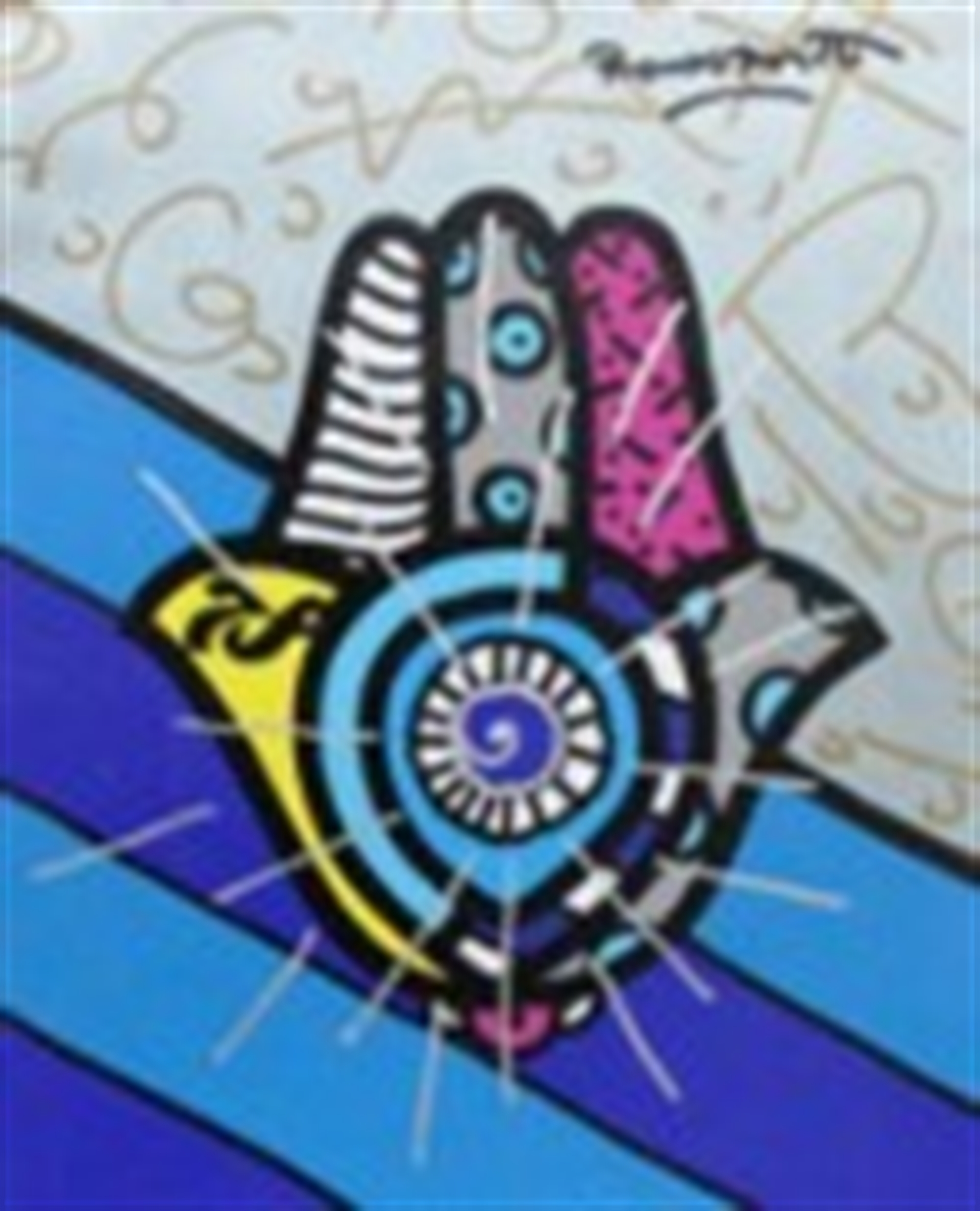 GOOD LUCK by Romero Britto
