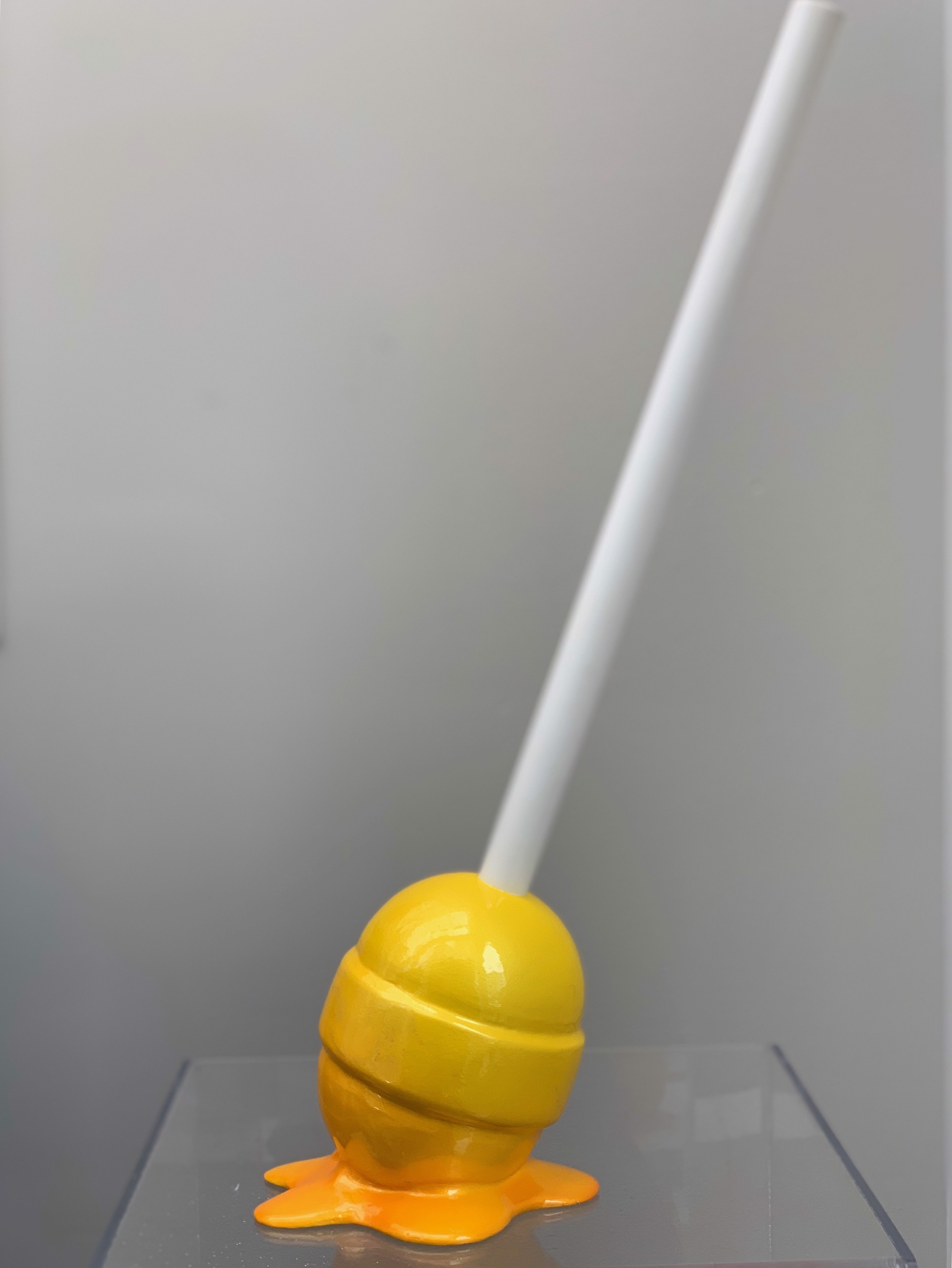 """The Sweet Life"" Small Yellow Ombre Lollipop by Elena Bulatova"