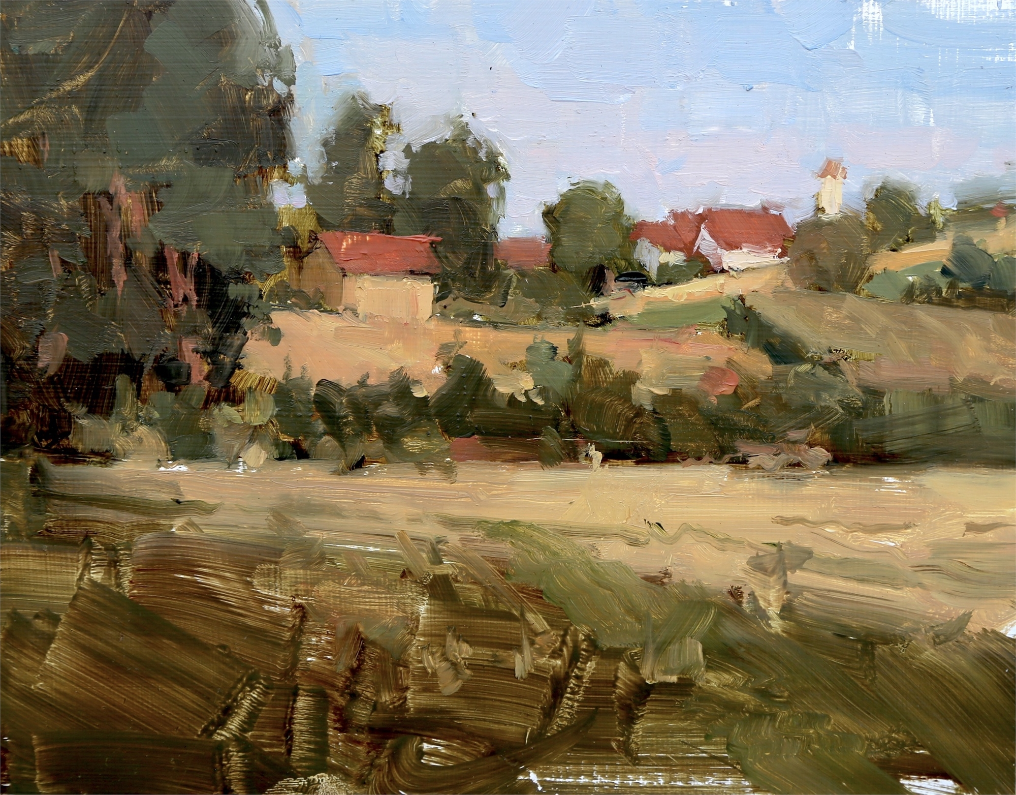 Pentling, Germany (plein air) by James Kroner