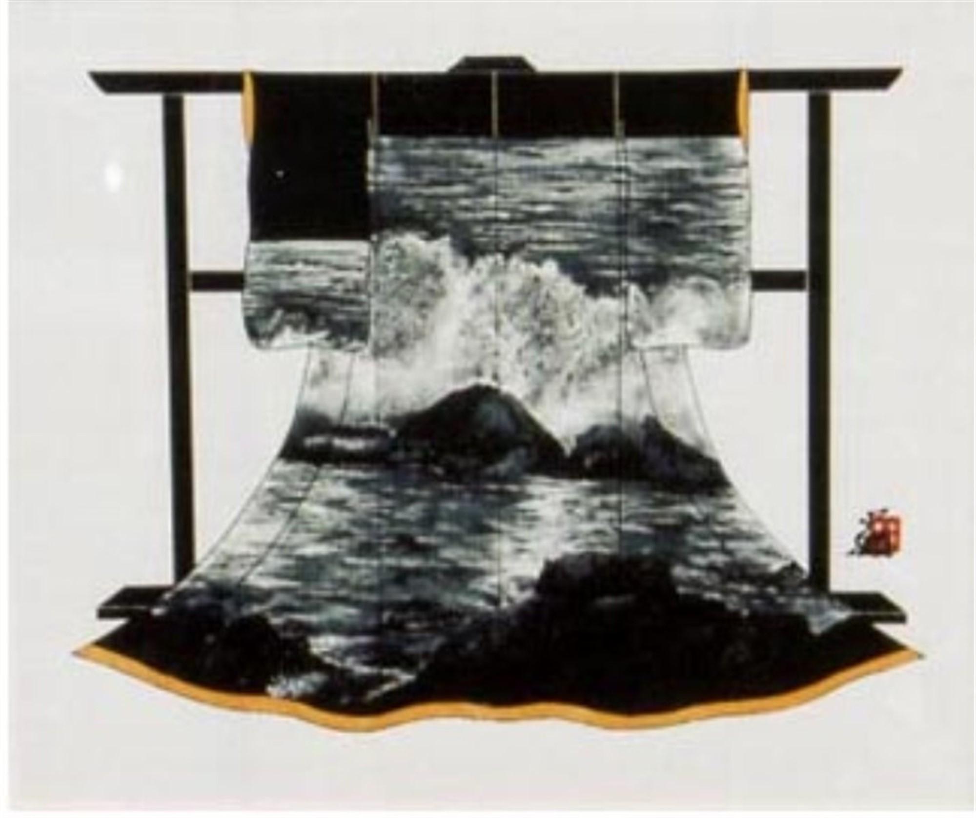 Crashing Surf Kimono by Hisashi Otsuka
