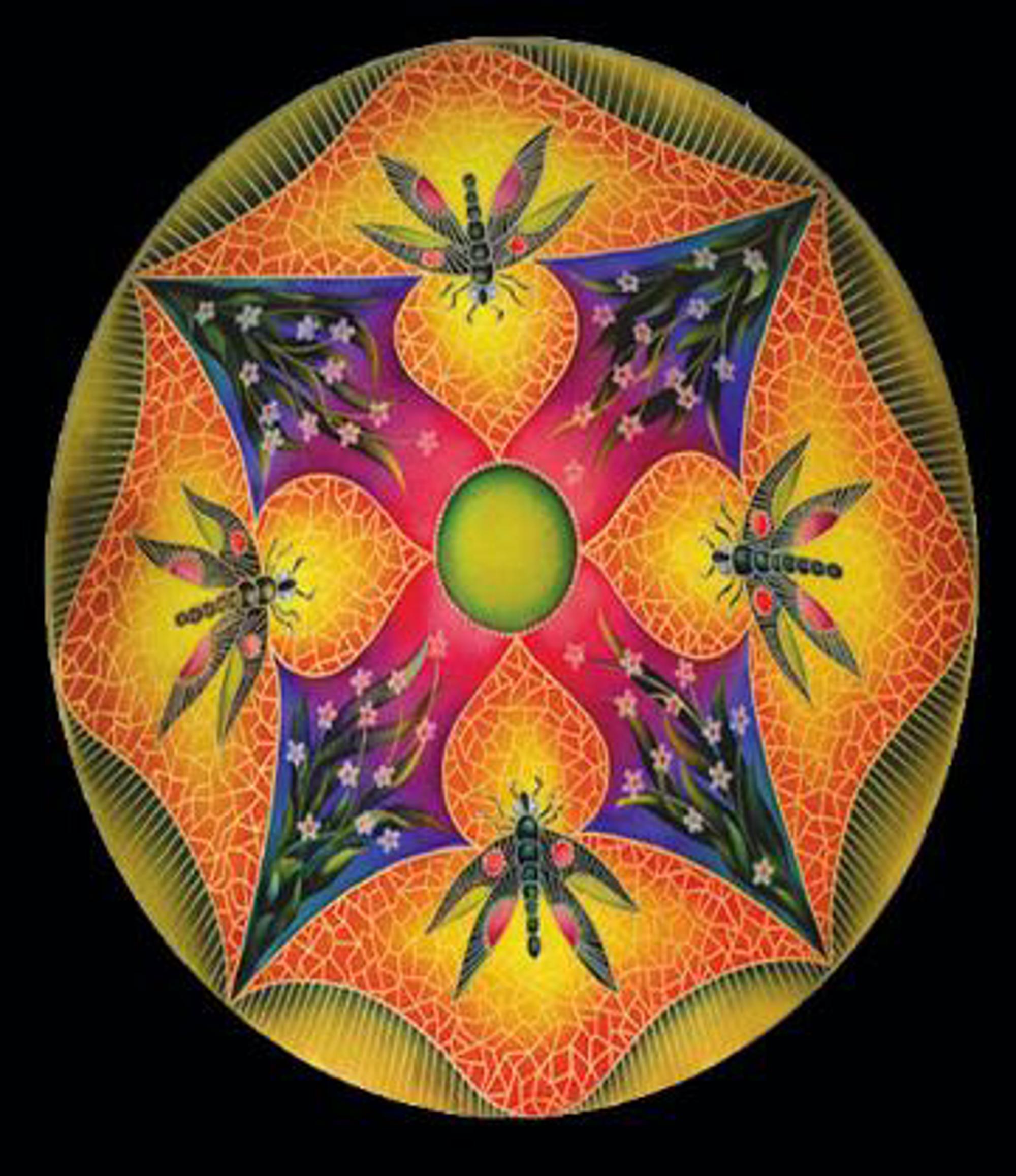 Design Dragonfly Green Trim by Jamie Barthel