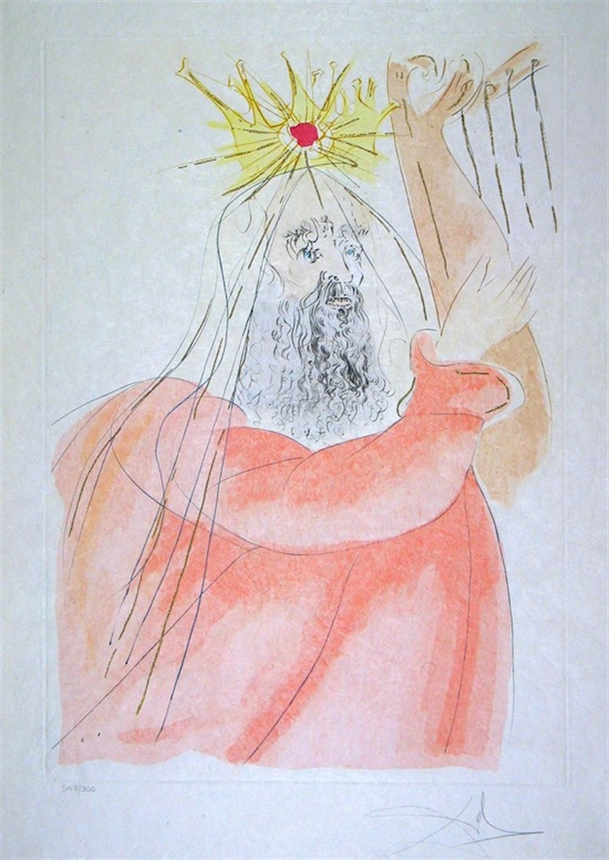King David (from Our Historical Heritage, suite of 11) by Salvador Dali
