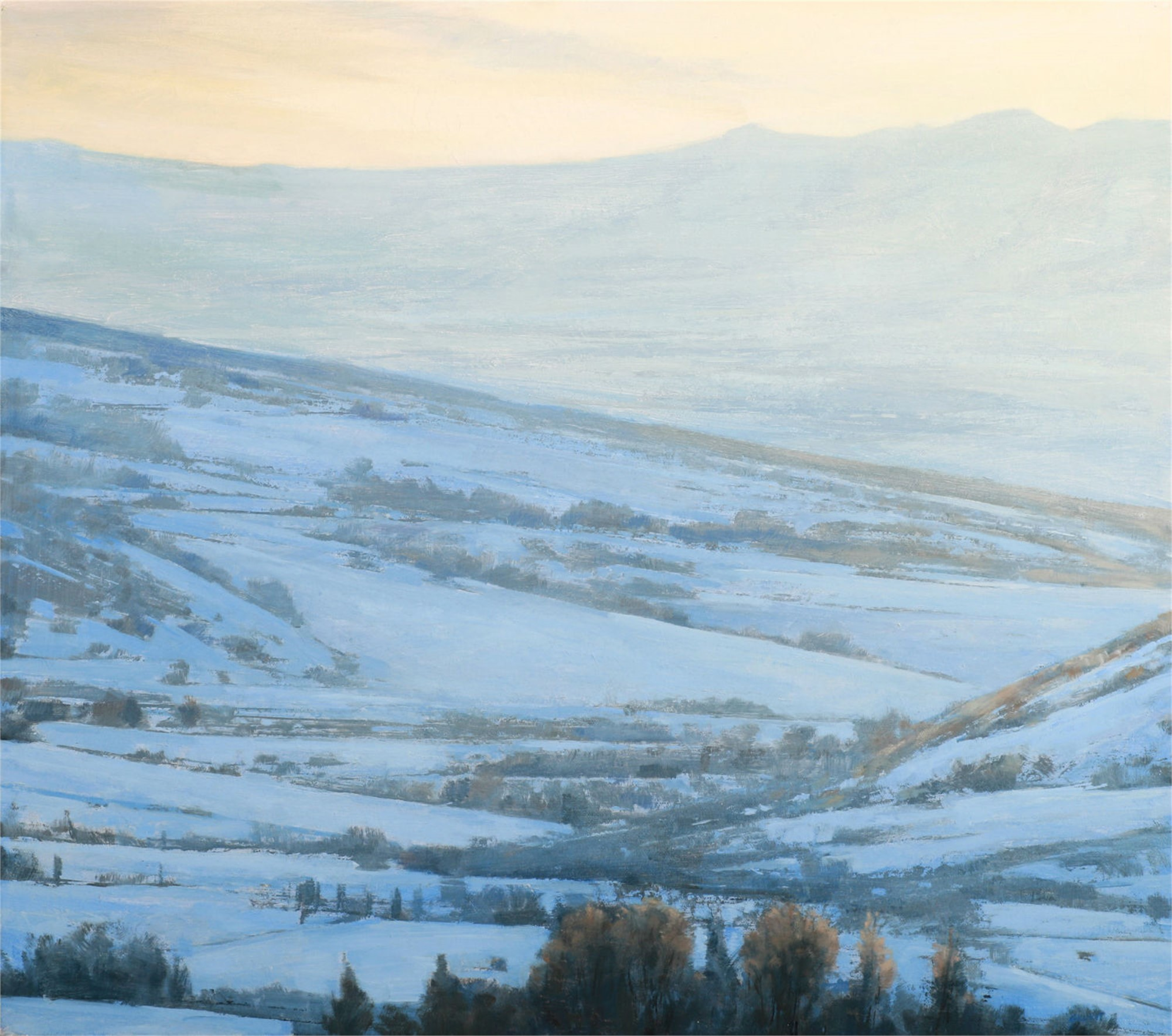 Winter Sunset 2 by Andrzej Skorut