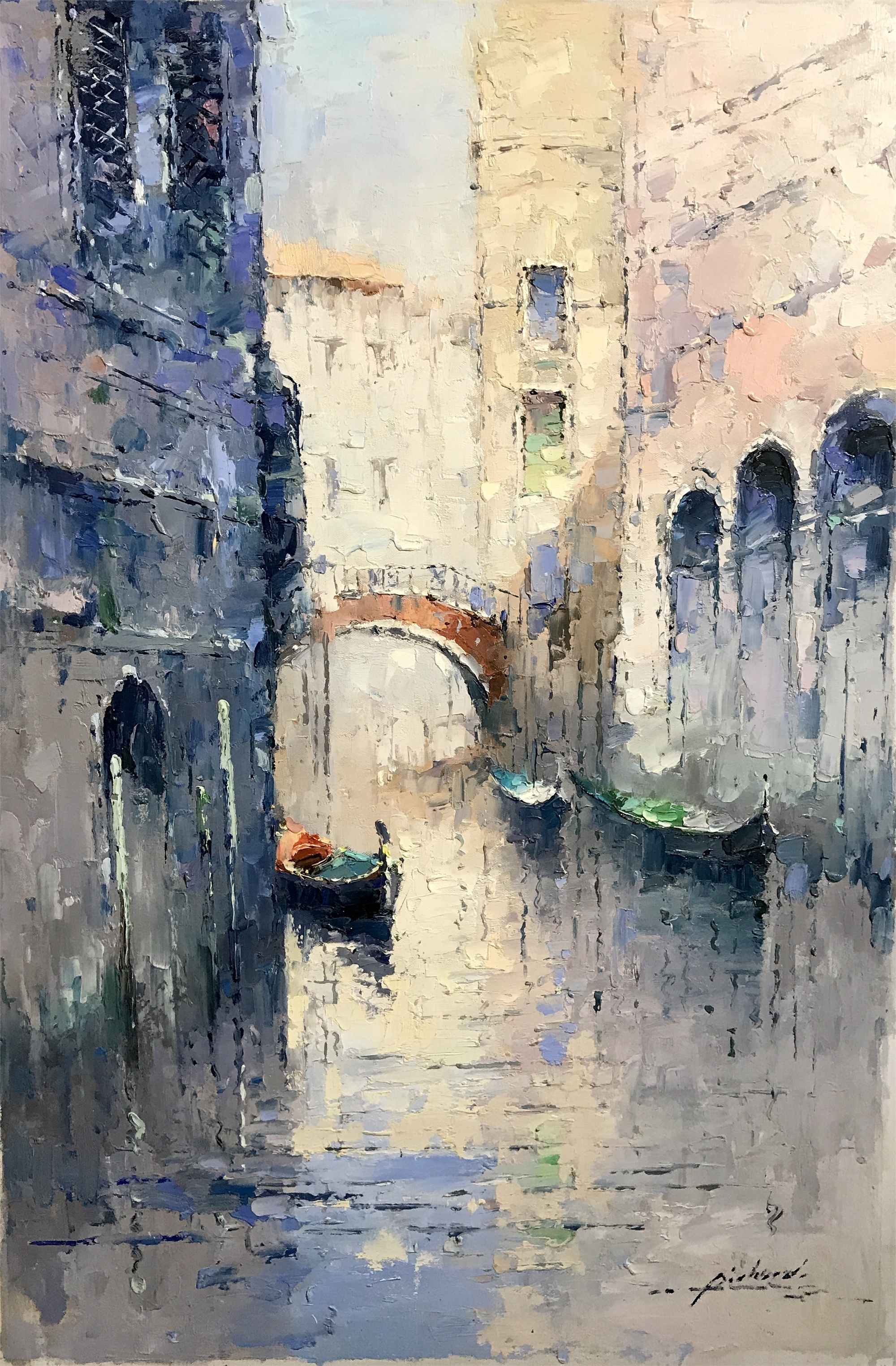 VENICE BRIDGE IN BLUE by PICHARD