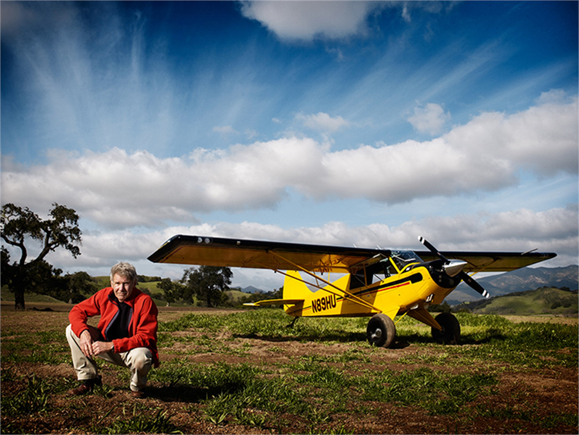 11004 Harrison Ford Plane Color by Timothy White