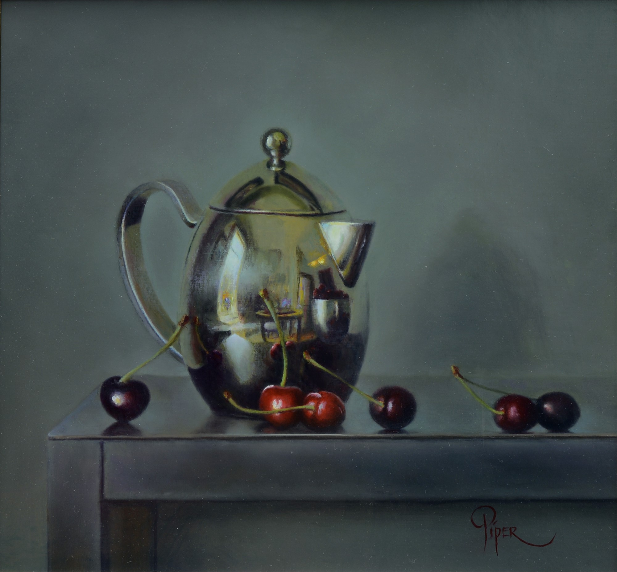 Cherries and Tea by Marsha Whitesides Piper