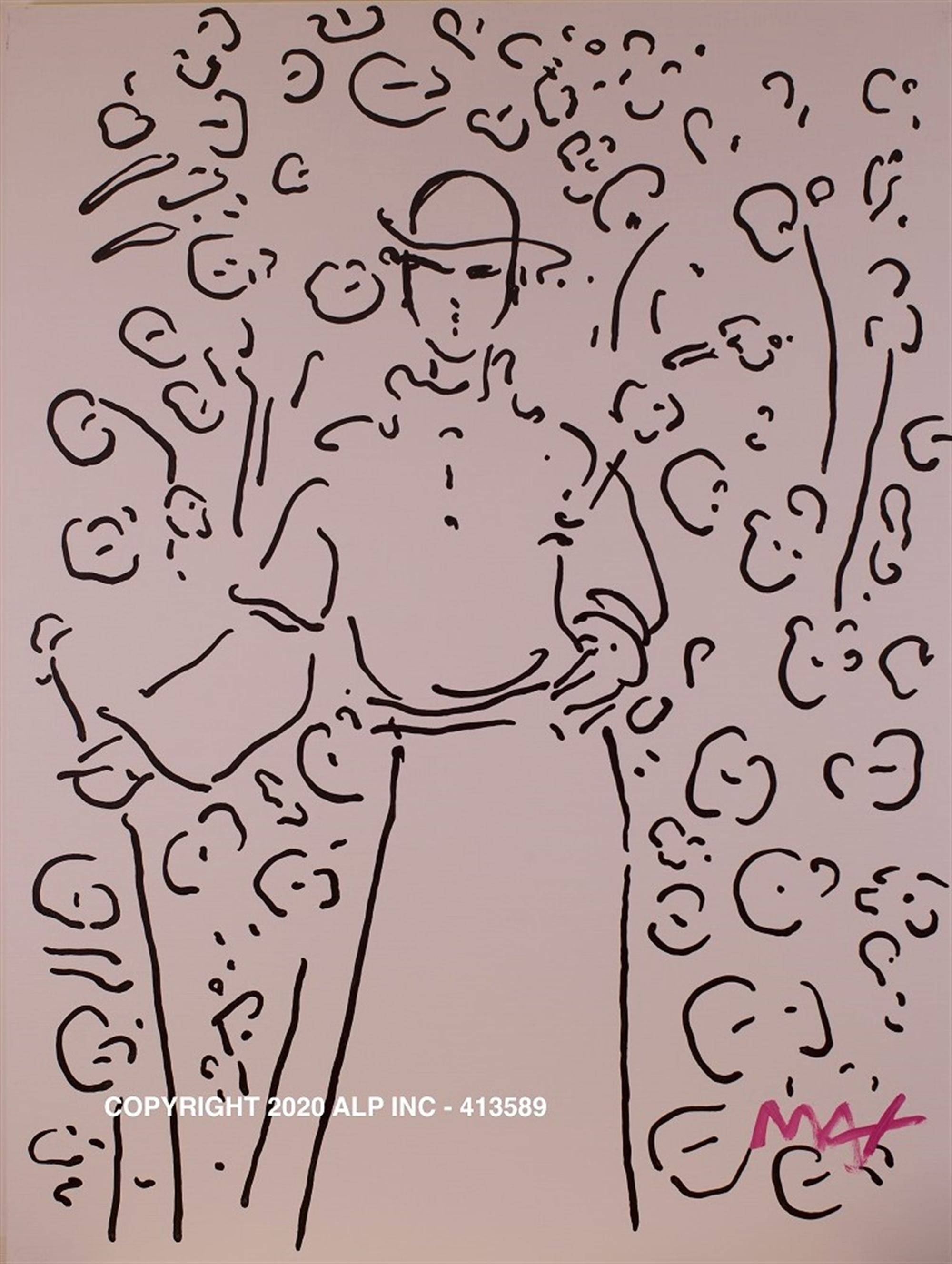 Monk in a Garden II Ver. I #1- Vintage Collection by Peter Max