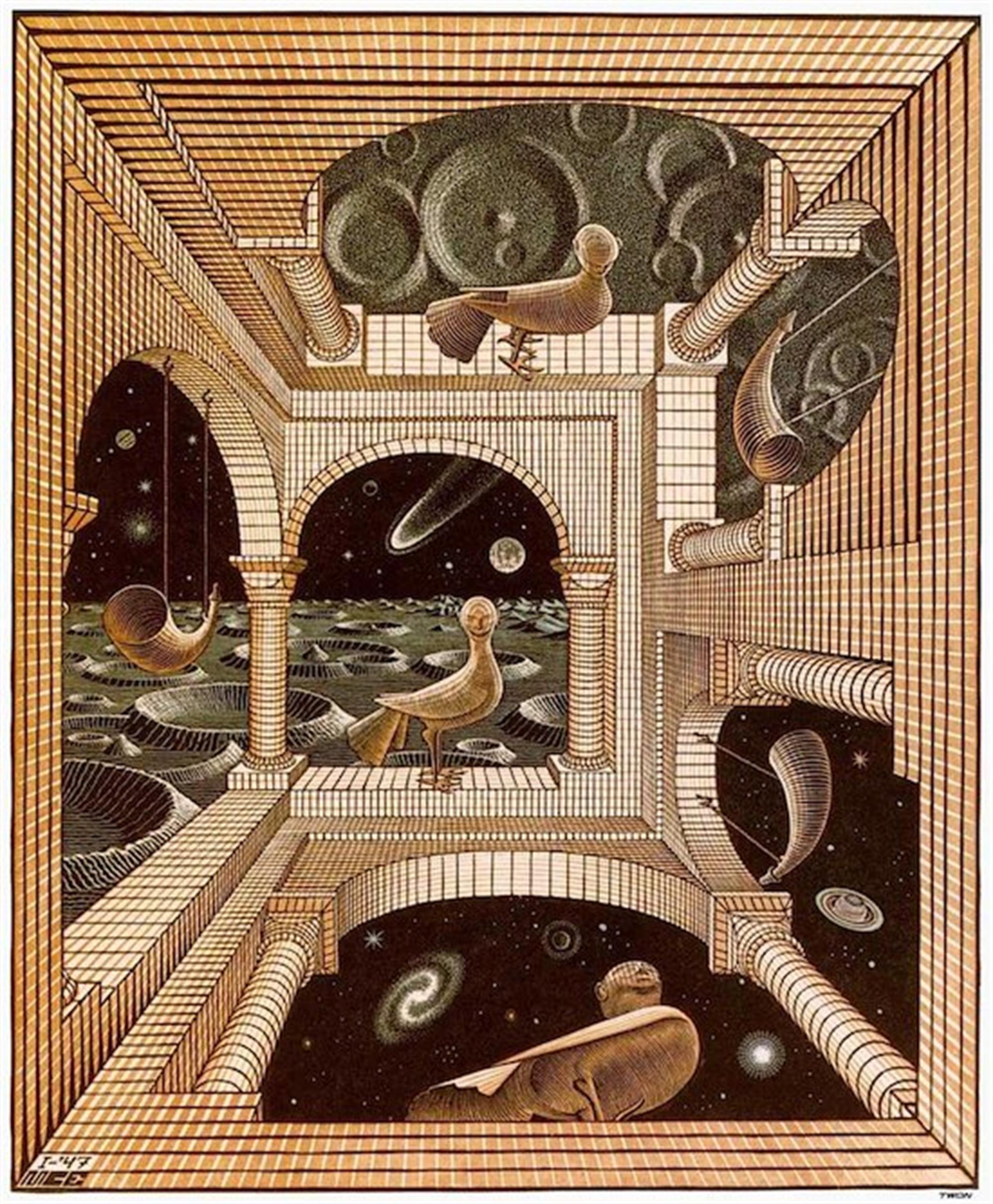 Other World (Another World) by M.C. Escher