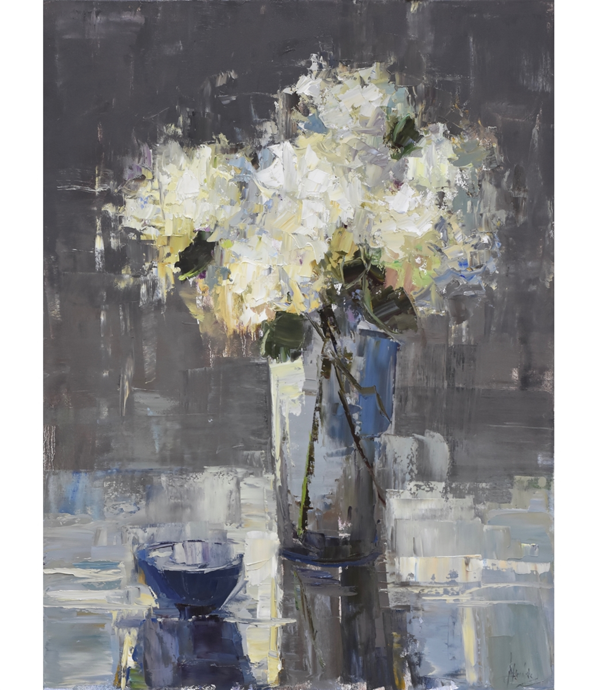 Blue Table by Barbara Flowers