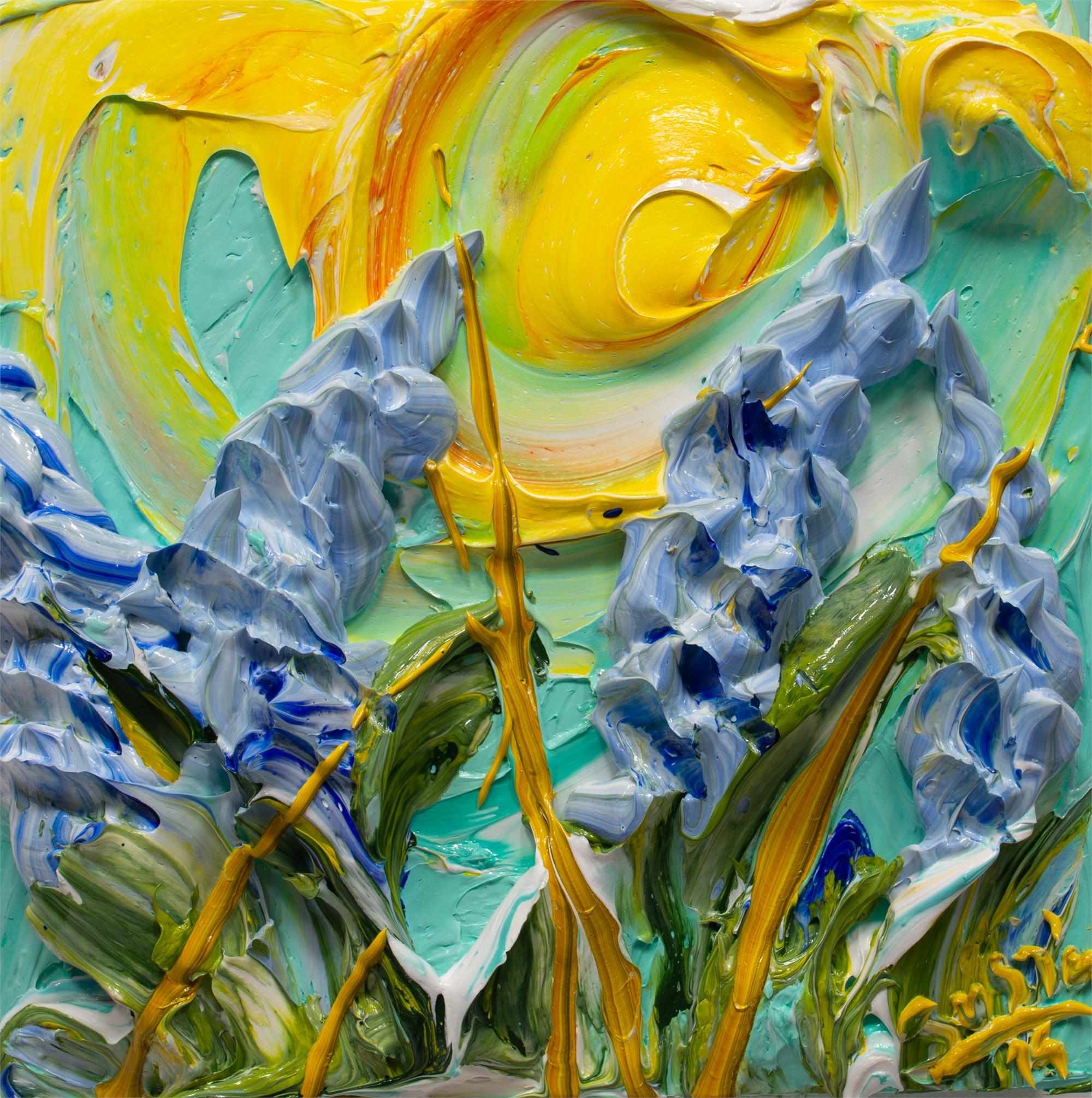 BLUEBONNET FLOWERS-BF-12X12-2019-197 by JUSTIN GAFFREY