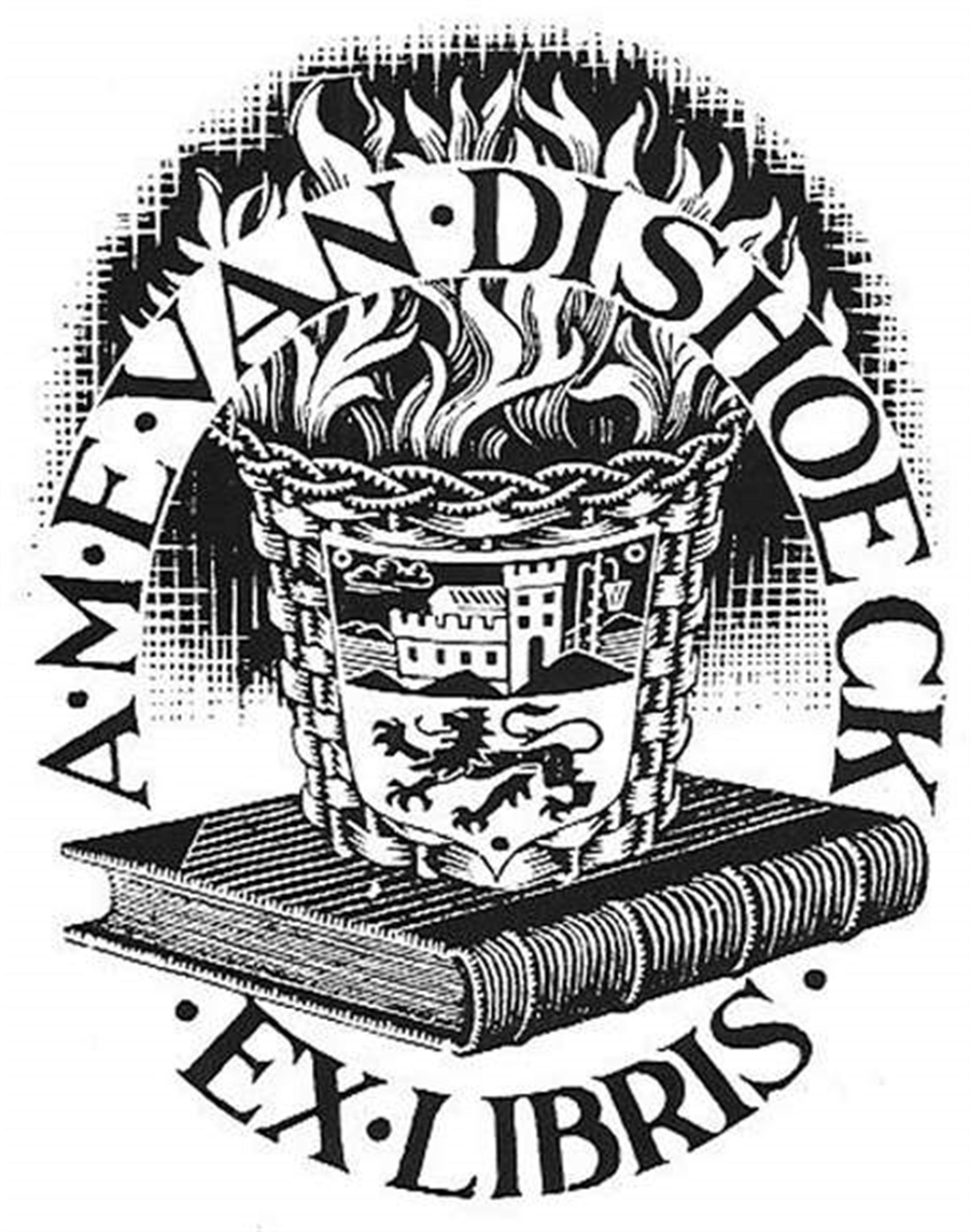 Ex Libris (Bookplate) by M.C. Escher