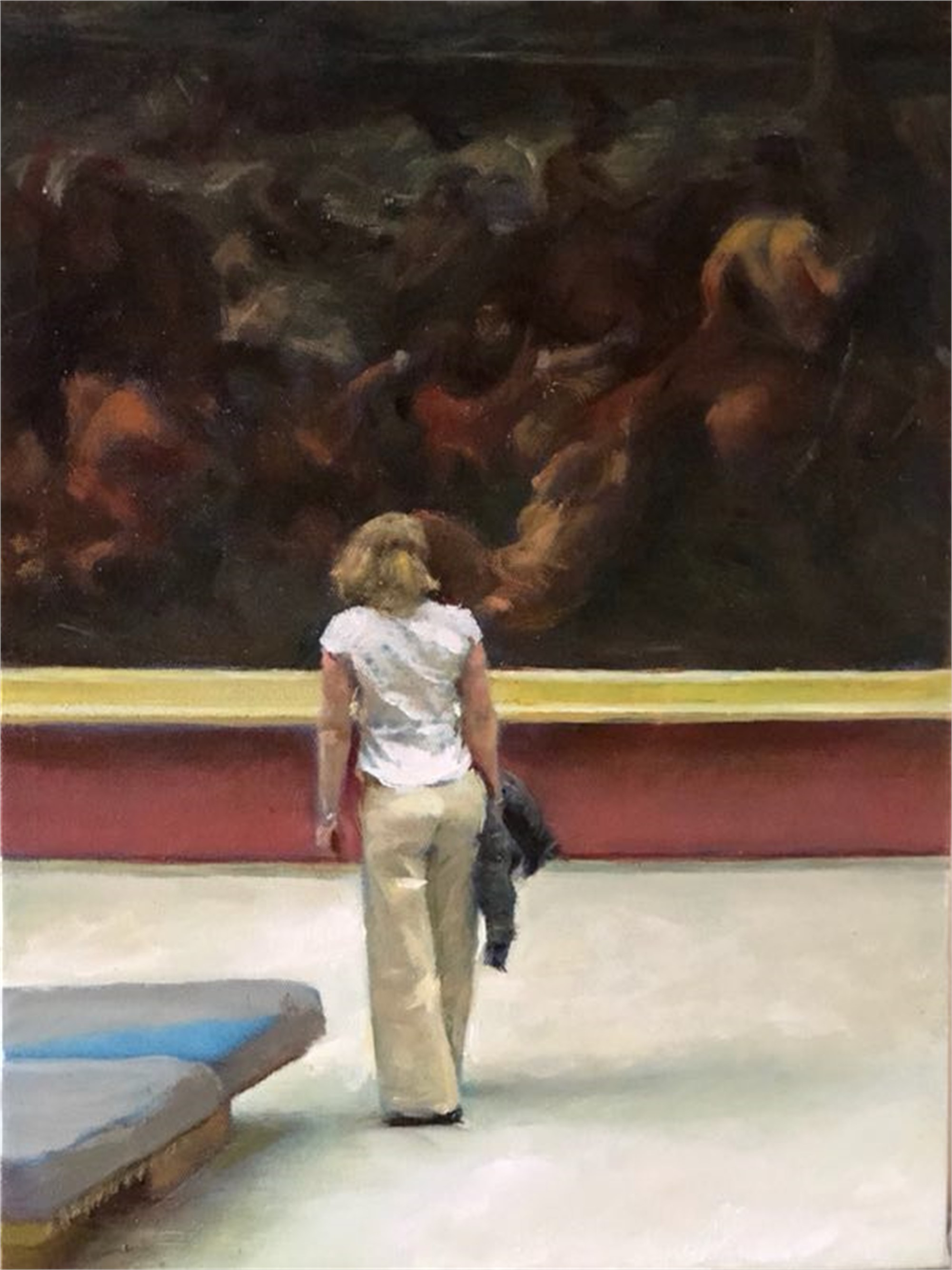Louvre - Back View by Shang Ding