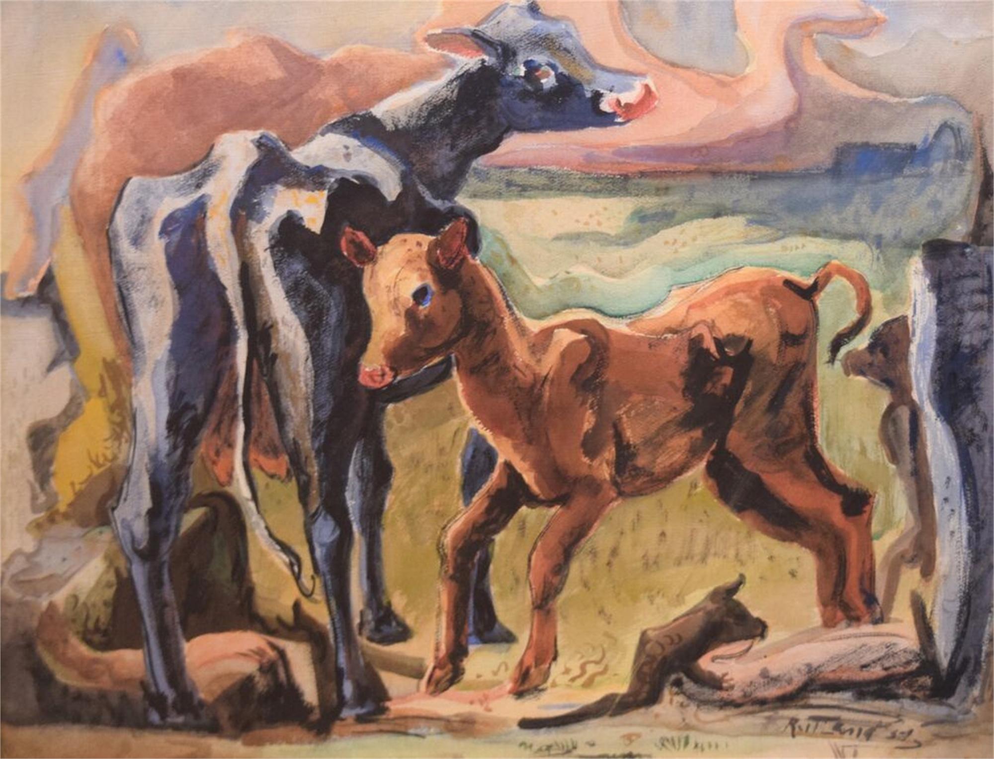 Calves by Emily Rutland