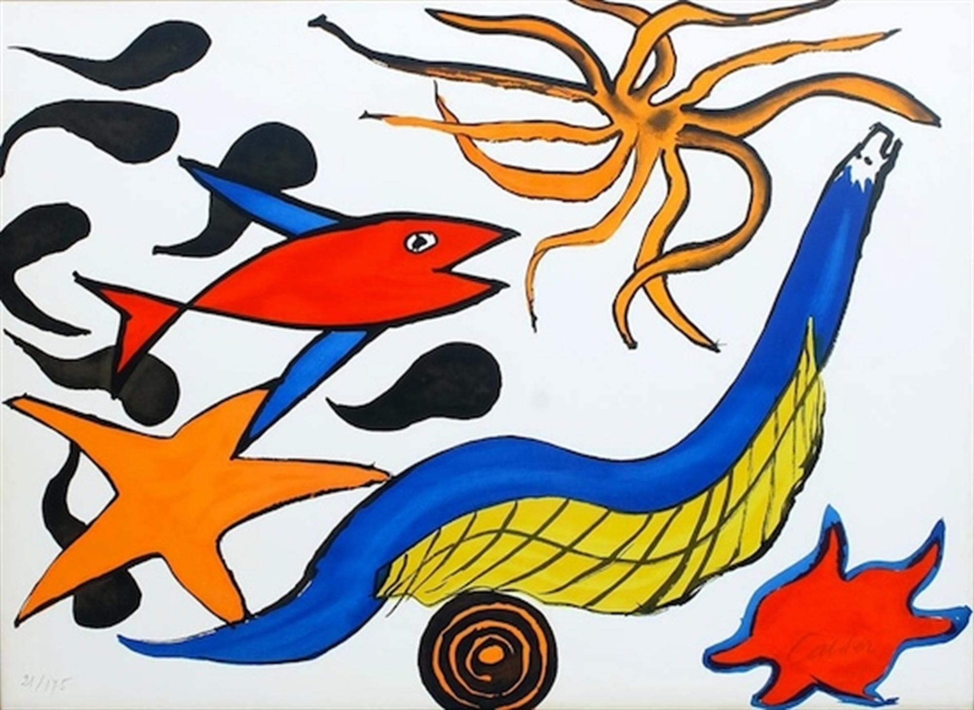 Sea Creatures - Star by Alexander Calder
