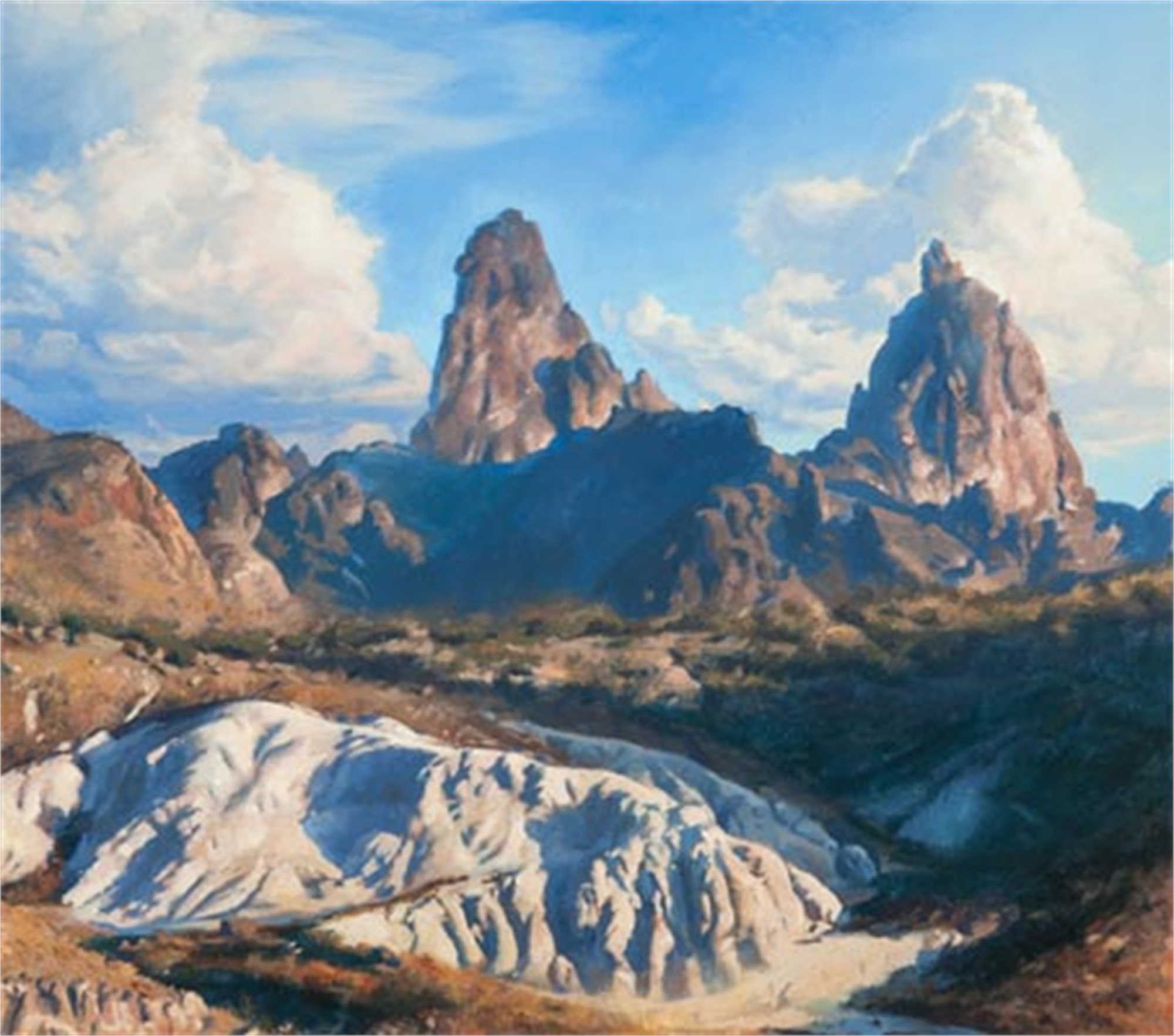 Mule Ears and Tuff Hill by Bob Stuth-Wade
