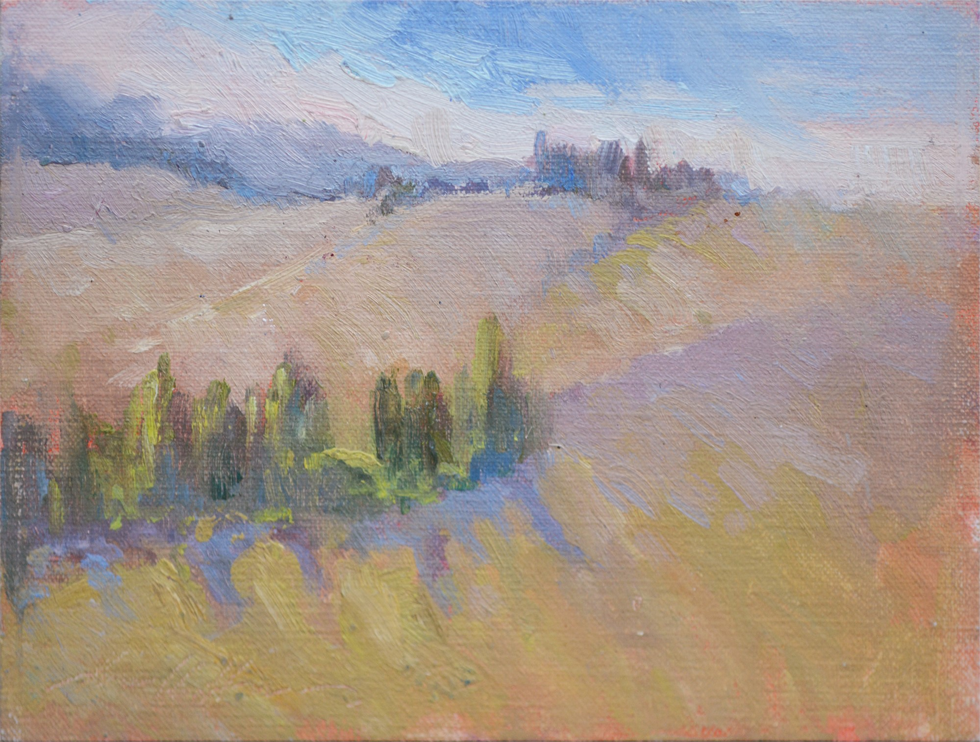The Hills of San Giovanni D'Asso by Karen Hewitt Hagan