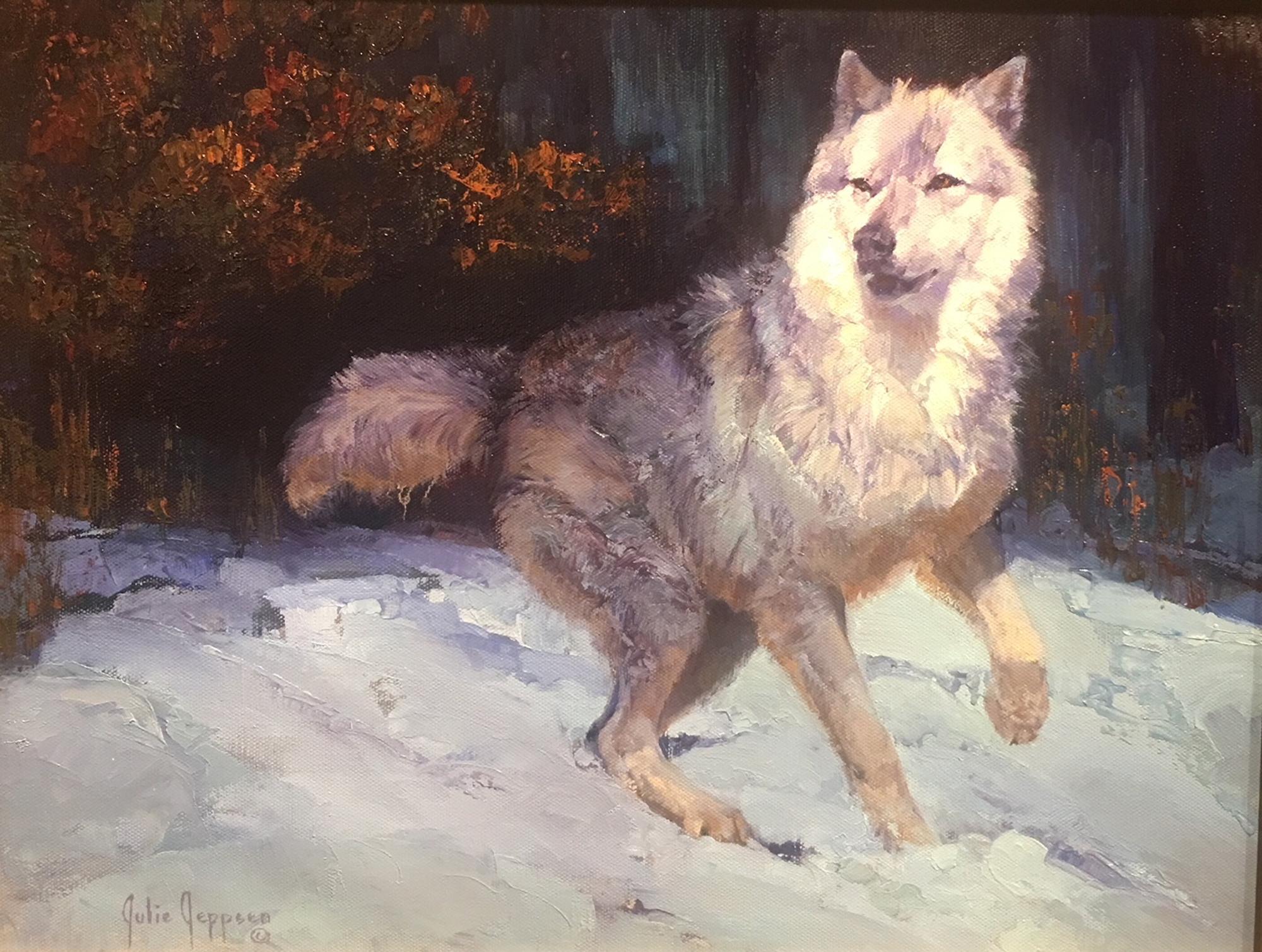 Moonlit (Wolf) by Julie Jeppsen