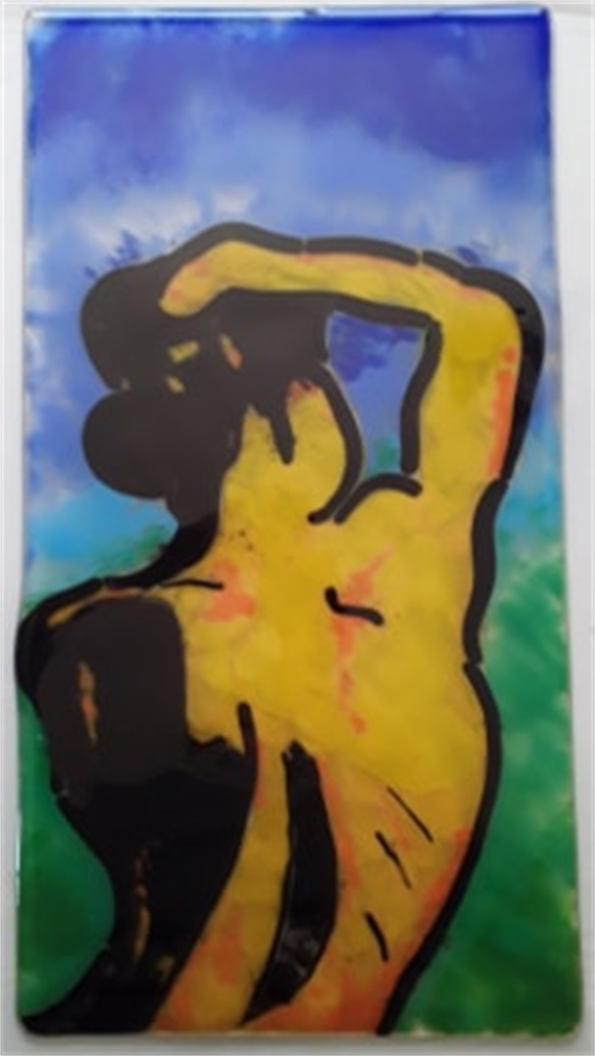 Sunning Nude by Mary Volm (Carlton, OR)