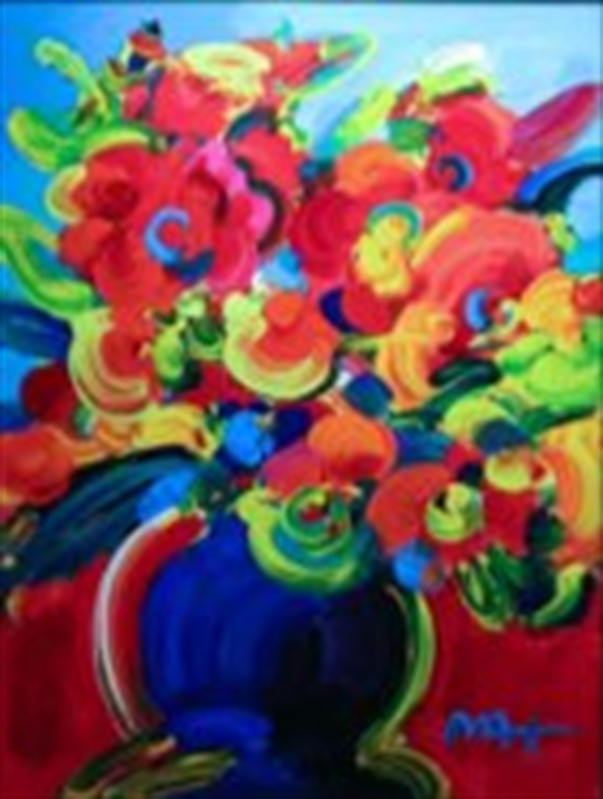Big Red Flowers by Peter Max