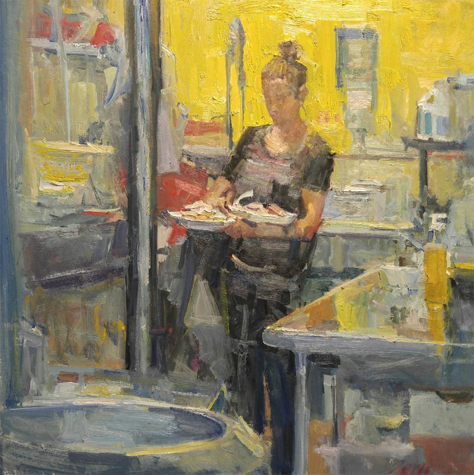 Yellow Kitchen by Mikael Olson