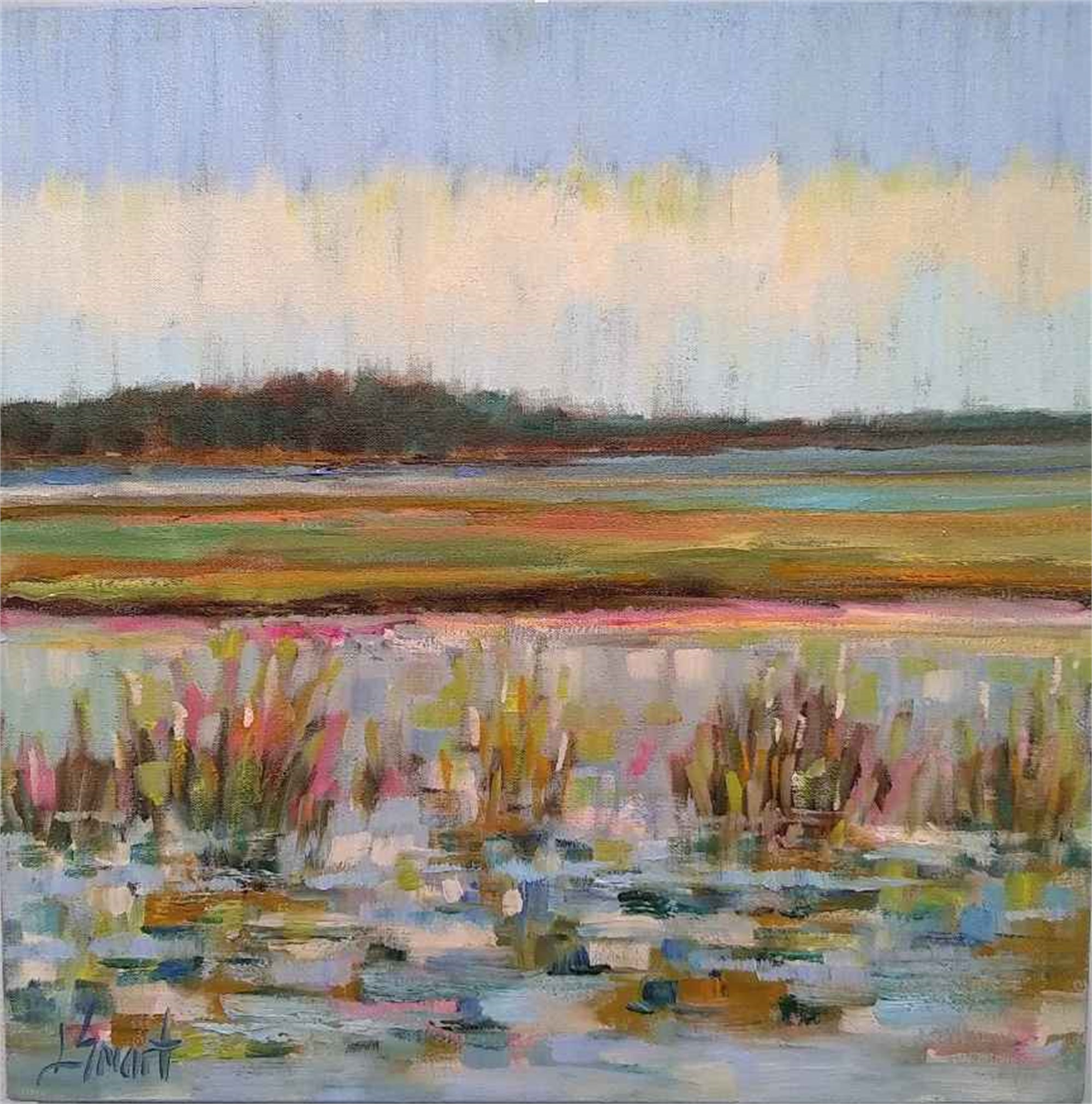 Glistening Marsh Water by Libby Smart