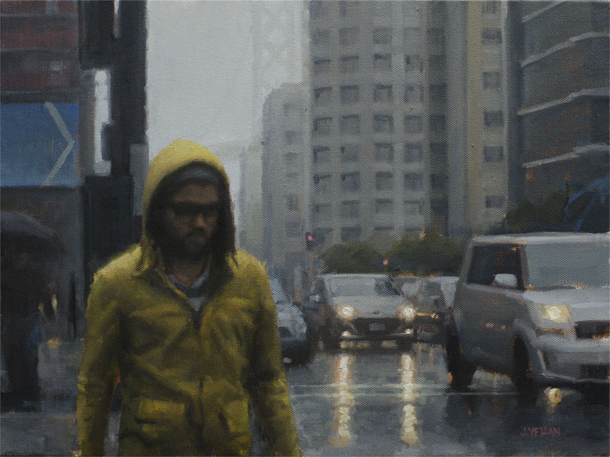 Yellow Raincoat Study by Joevic Yeban