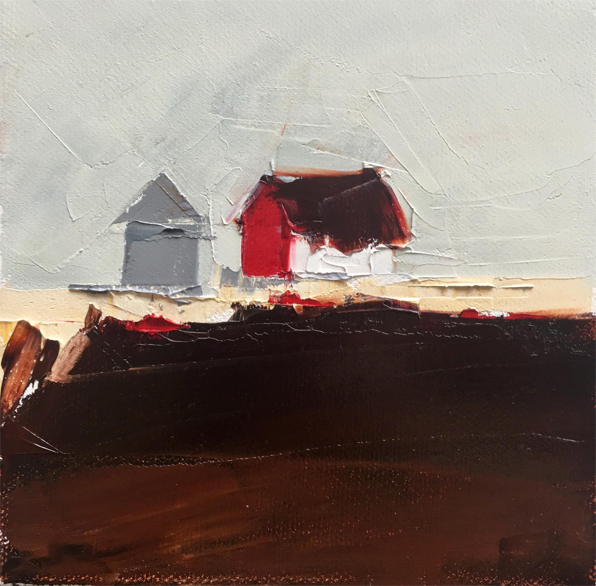 Red & White Barn by Sandra Pratt