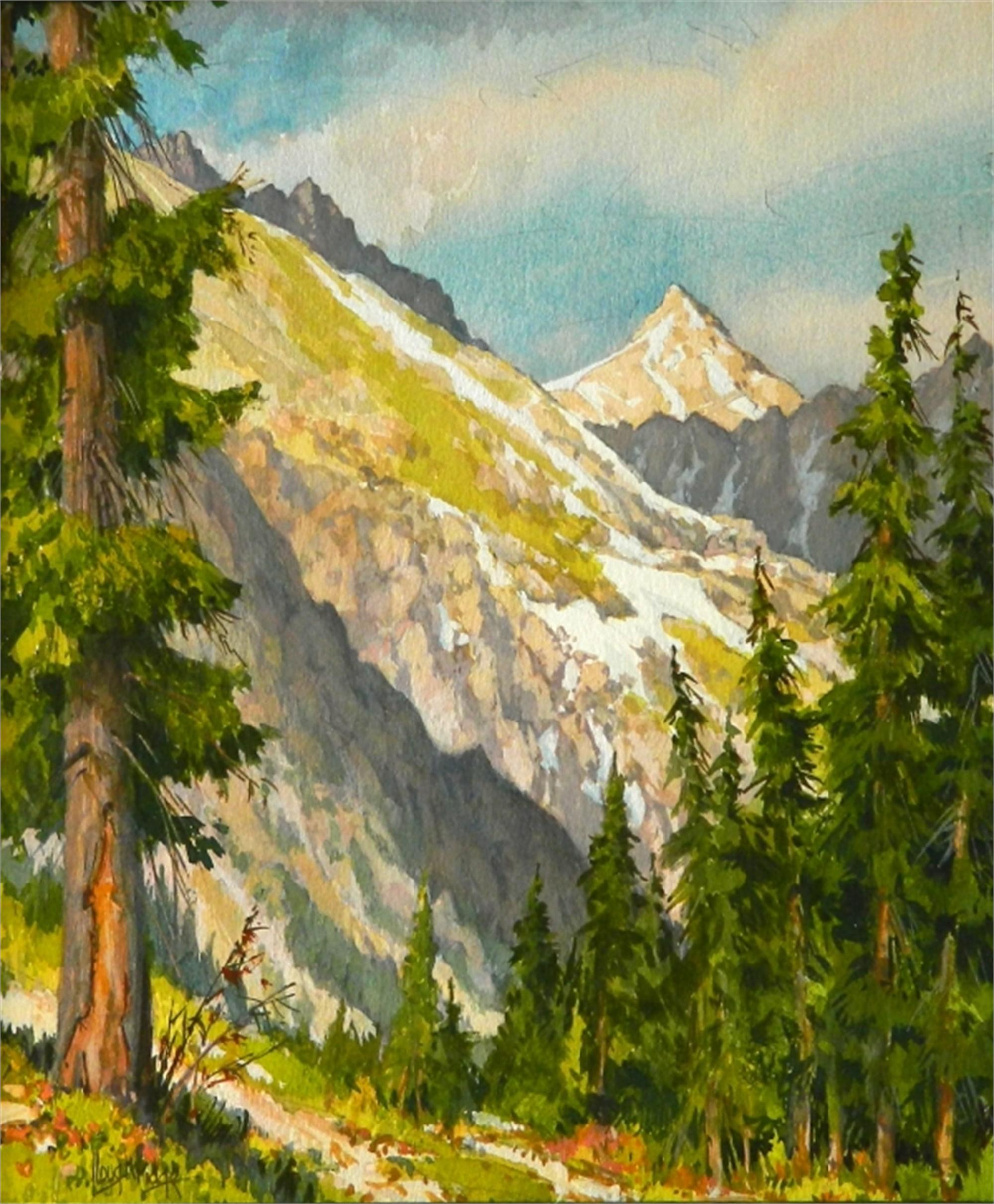 Crystal Peak, Across Valley by Leon Loughridge