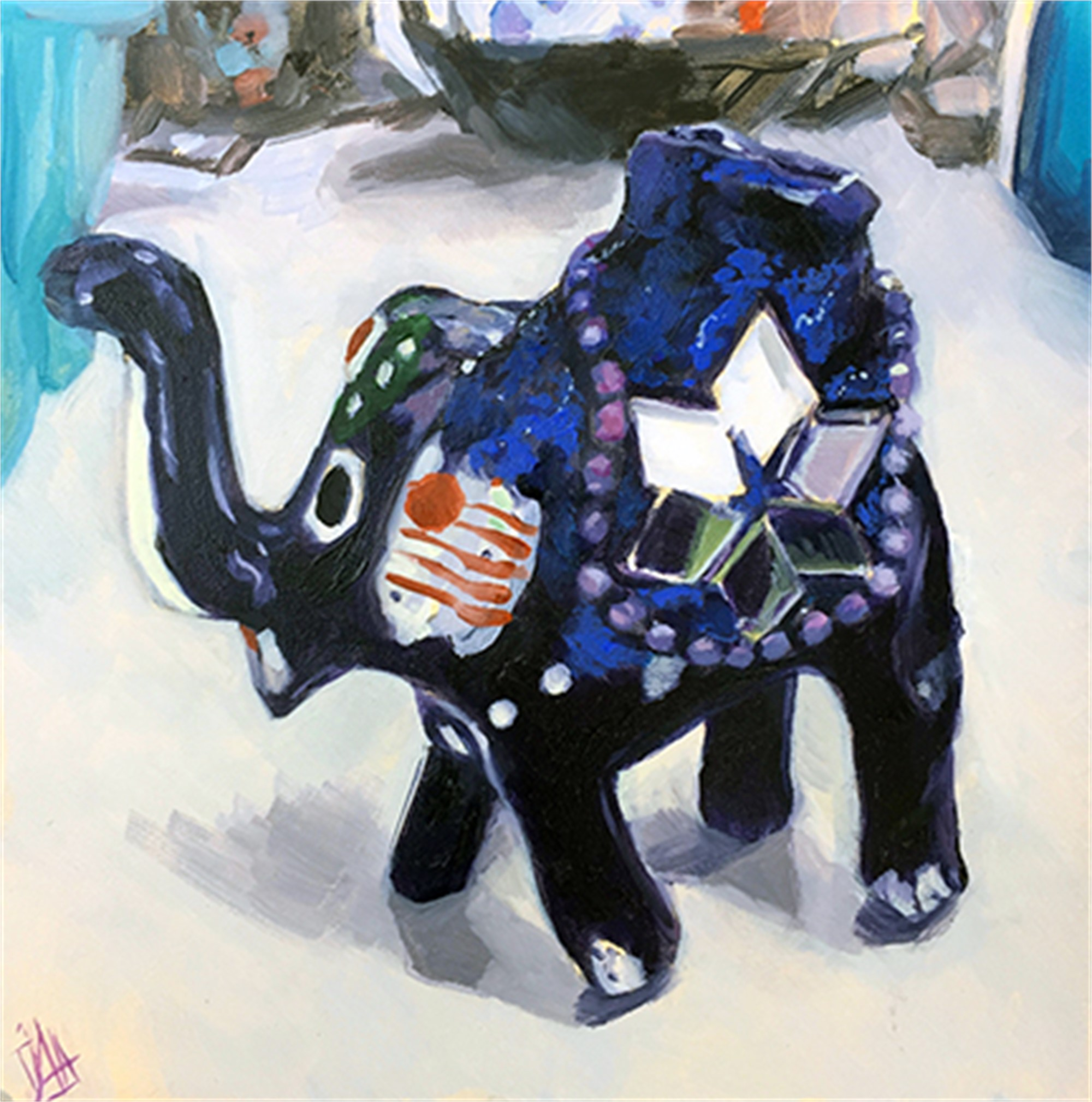 Blue Elephant by Julie Larick