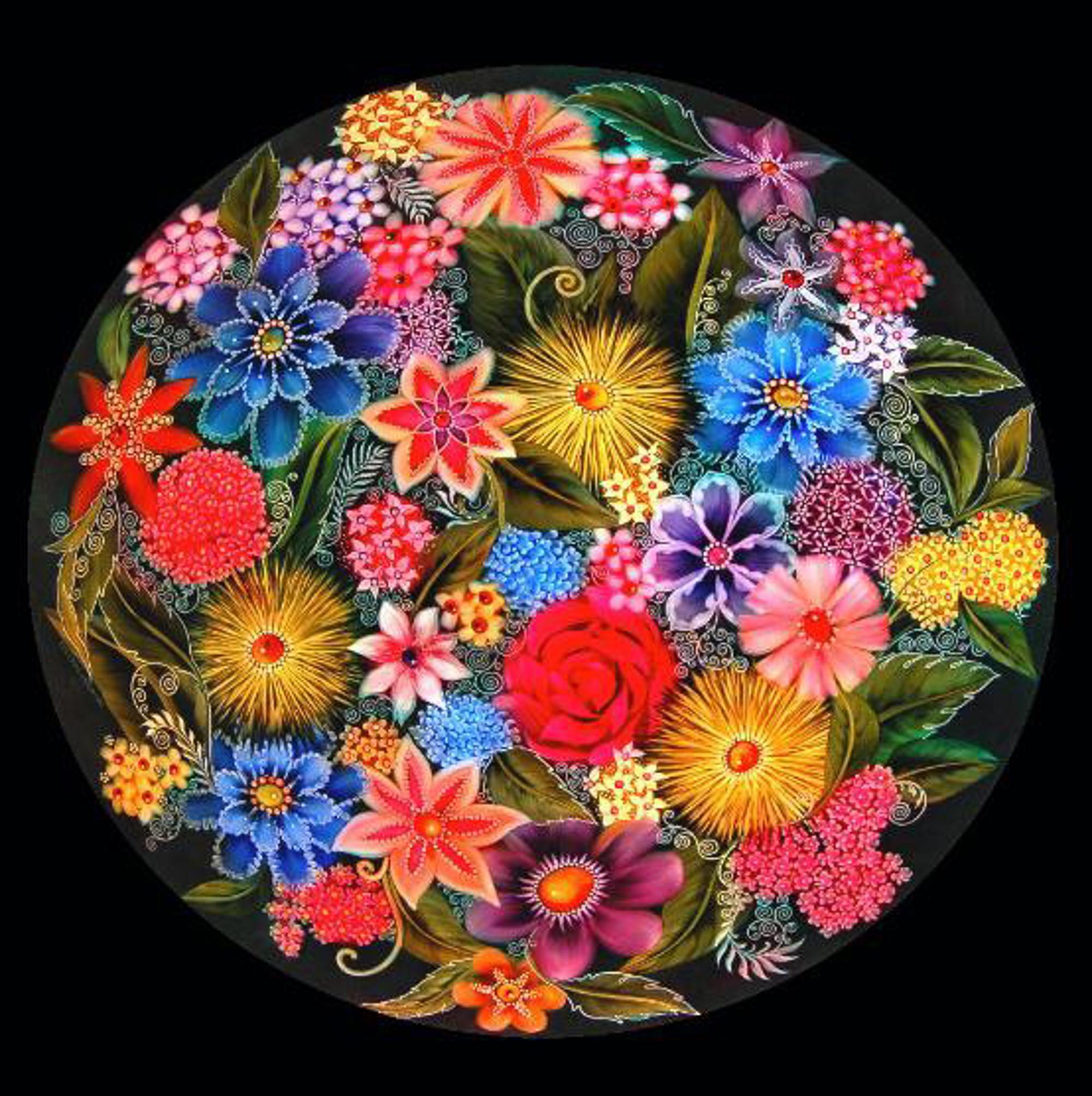 Design Midnight Garden - Black by Jamie Barthel
