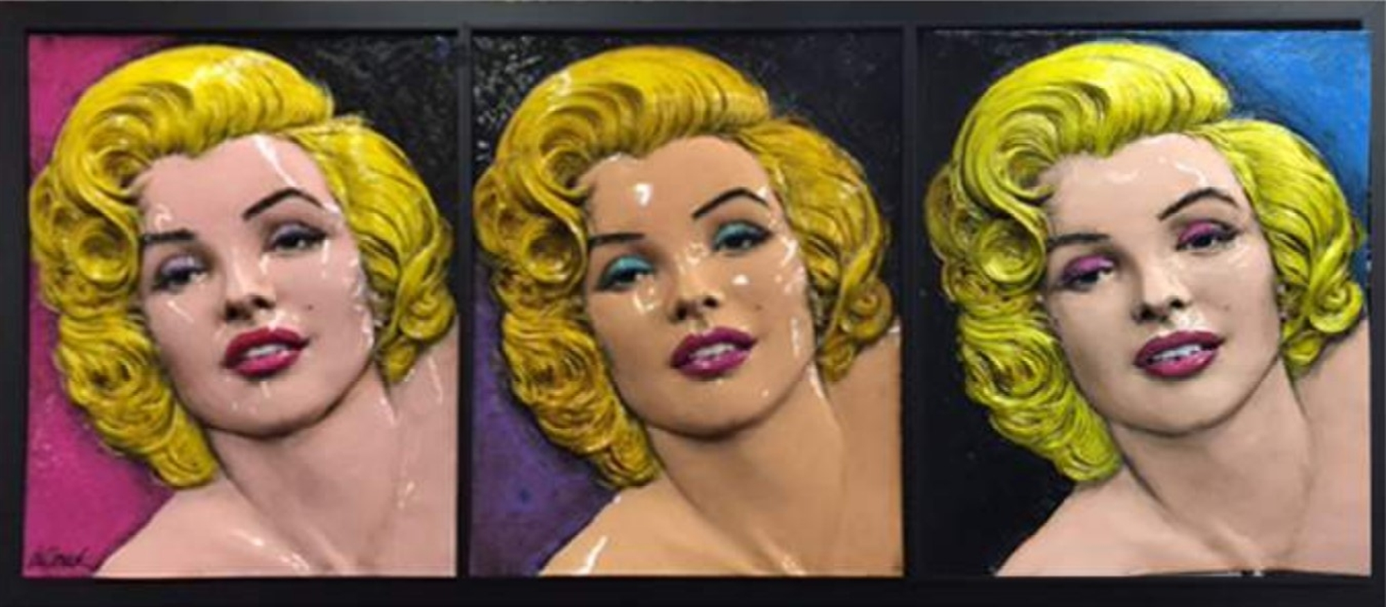 Original Marilyn Triptych by Bill Mack