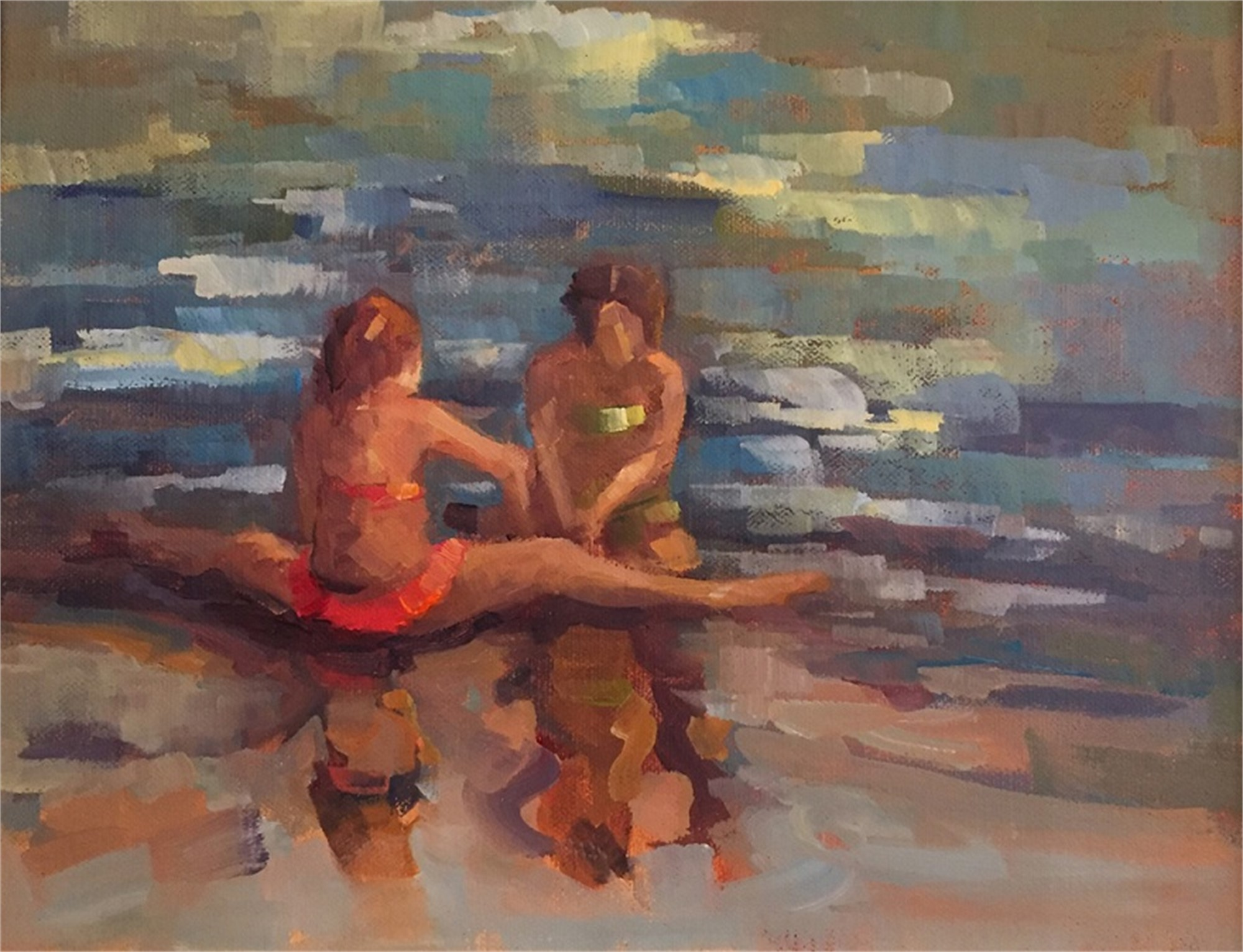 Girls on the Beach by Karen Hewitt Hagan