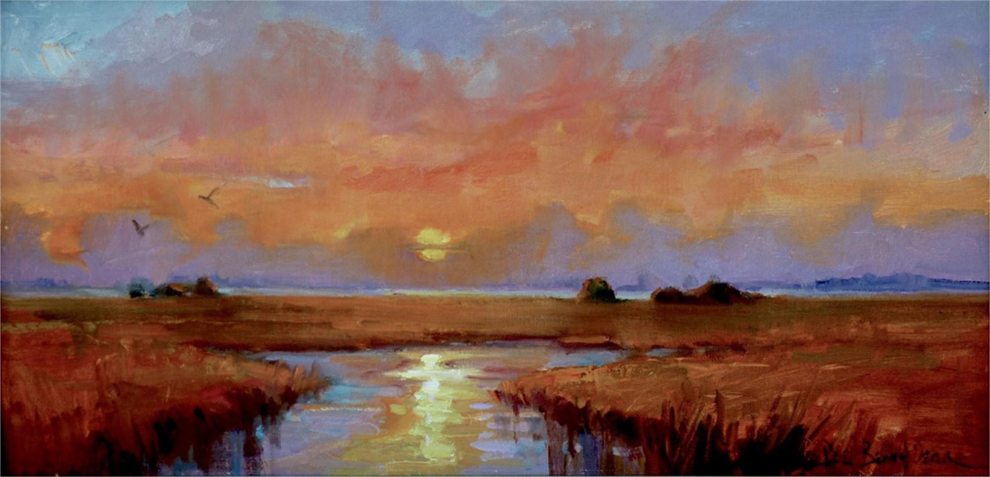 Sunset on the Island by Dee Beard Dean